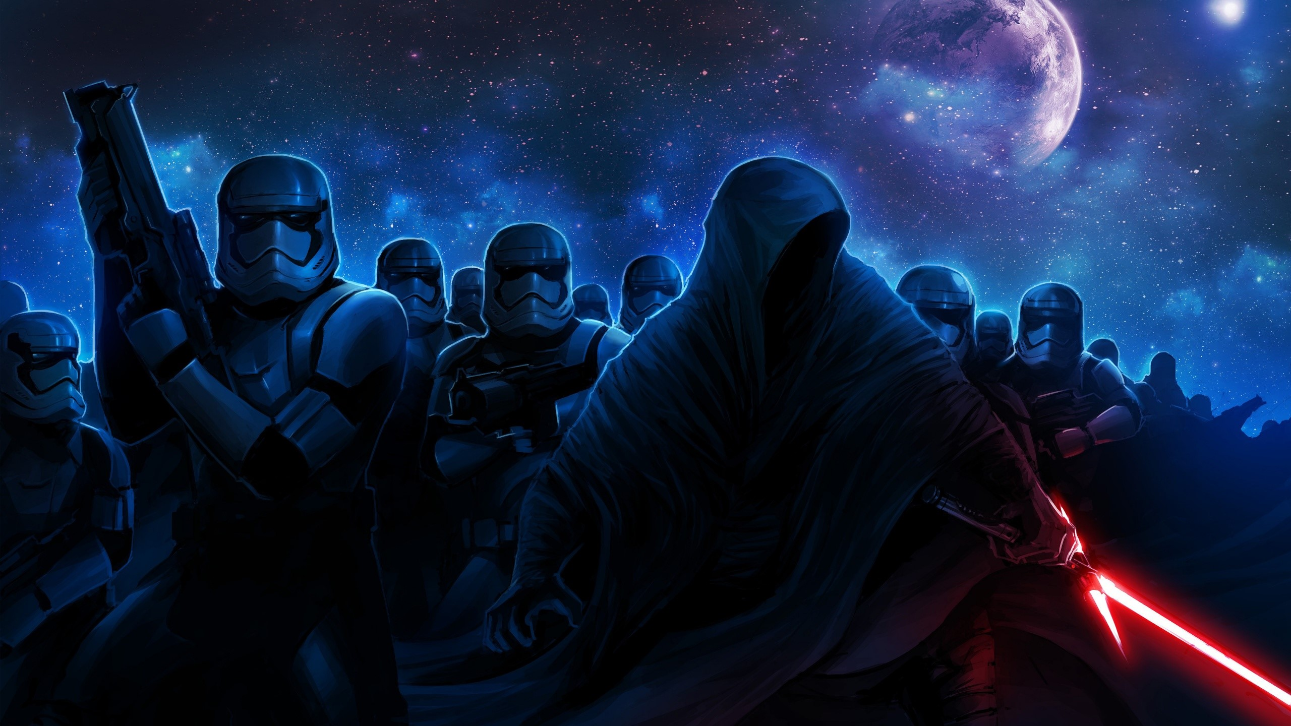 Stormtroopers And Darth Vader Wallpaper 2k Quad Hd Id 1654