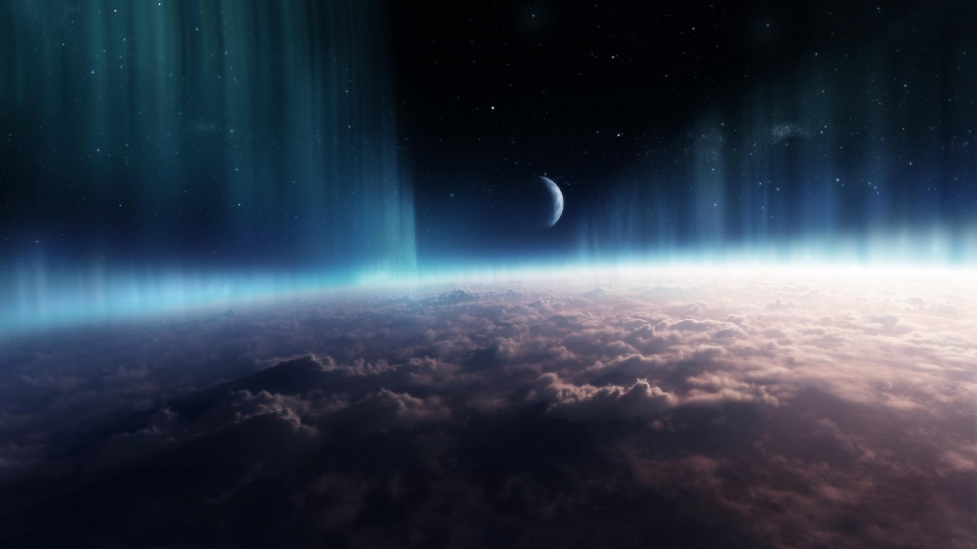 Universe Space With Clouds Wallpaper 2k Quad Hd Id2904