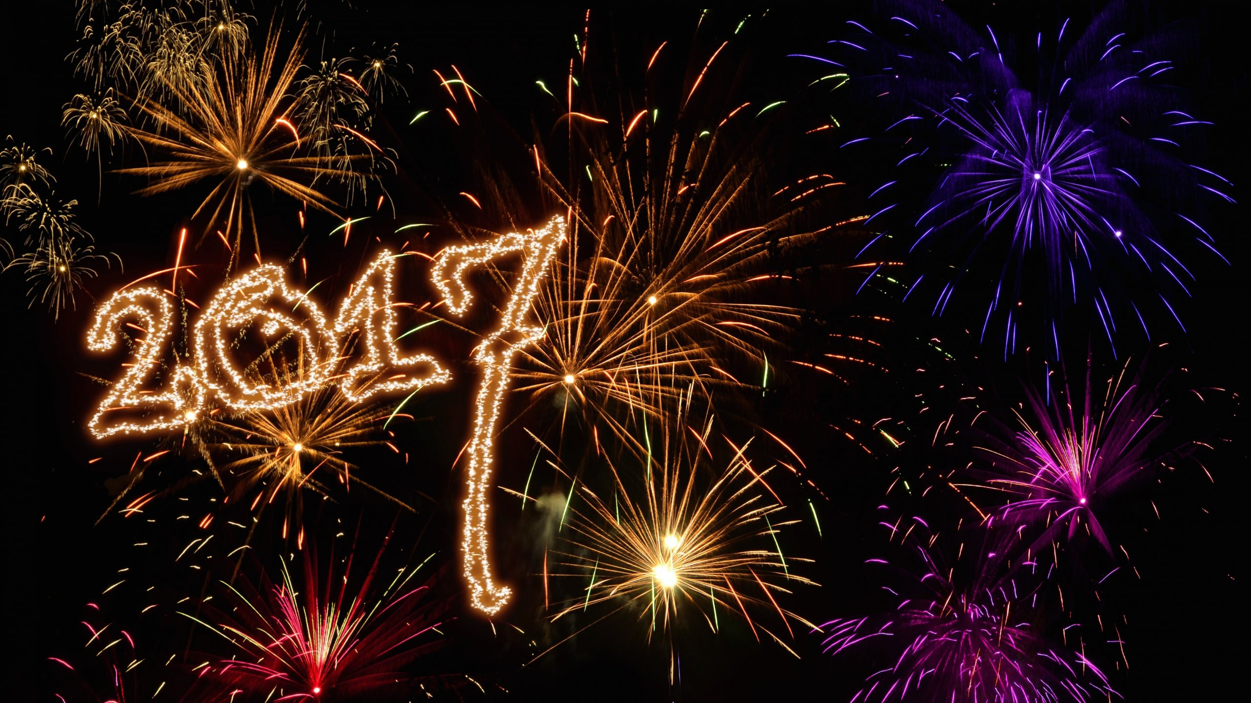 Happy New Year 2017 With Fireworks Wallpaper Id 2908