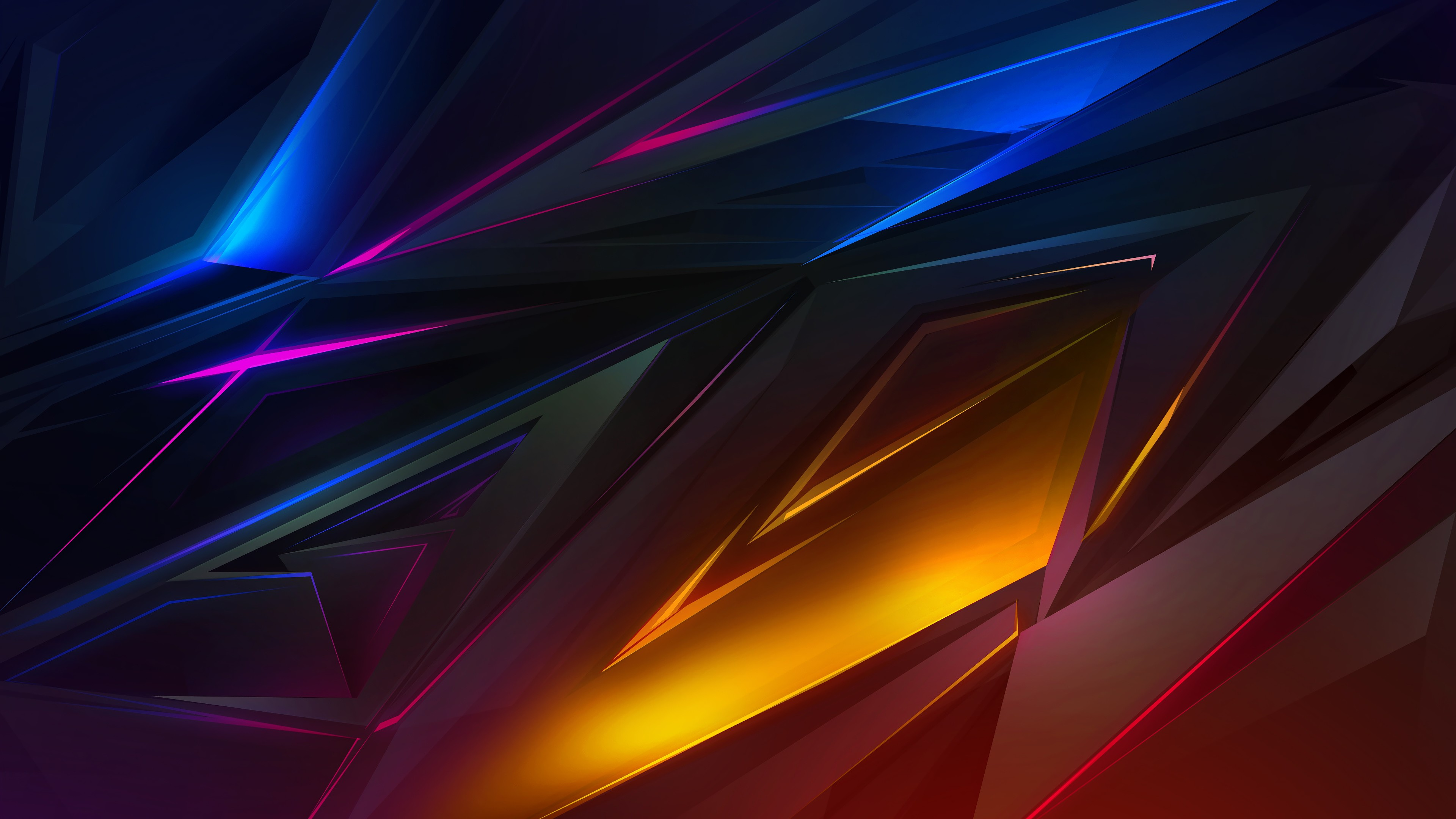 Abstract Polygons Wallpaper 4k Ultra Hd Id 3089