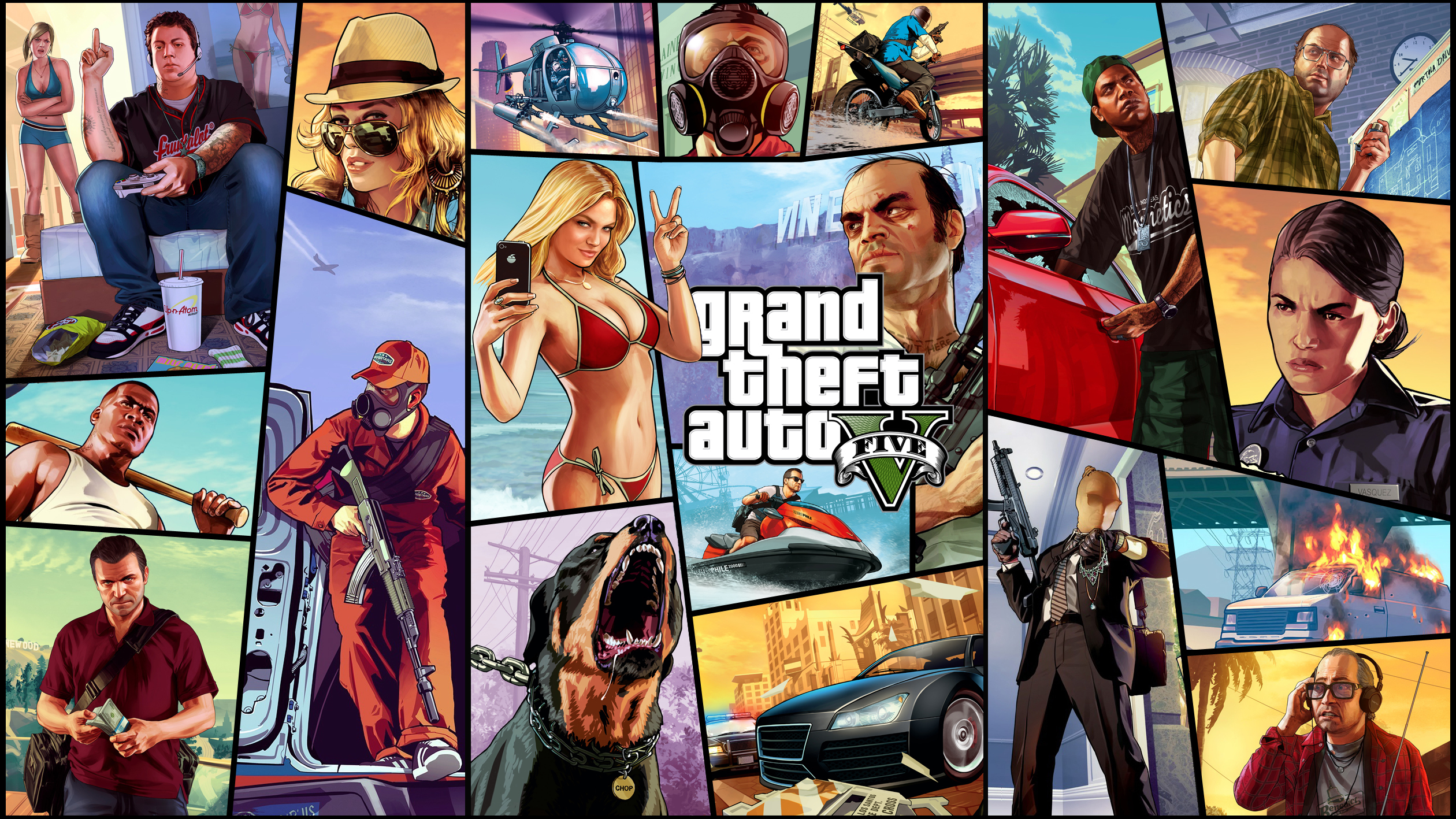 Grand Theft Auto V HD Wallpaper | Achtergrond | 2880x1800 | ID ... | 1417x2520
