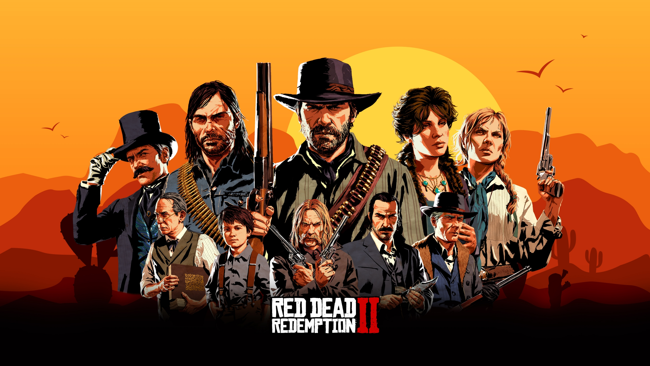 Red Dead Redemption 2 Portada Characters Wallpaper 4k Ultra