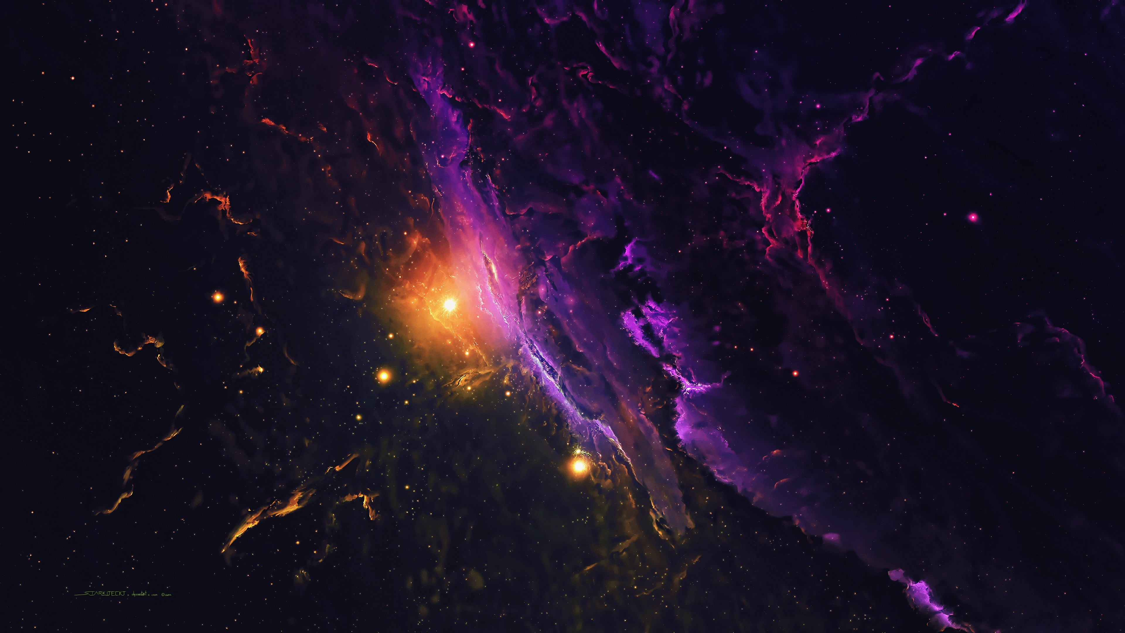 Galaxy In Space Wallpaper 4k Ultra Hd Id4052