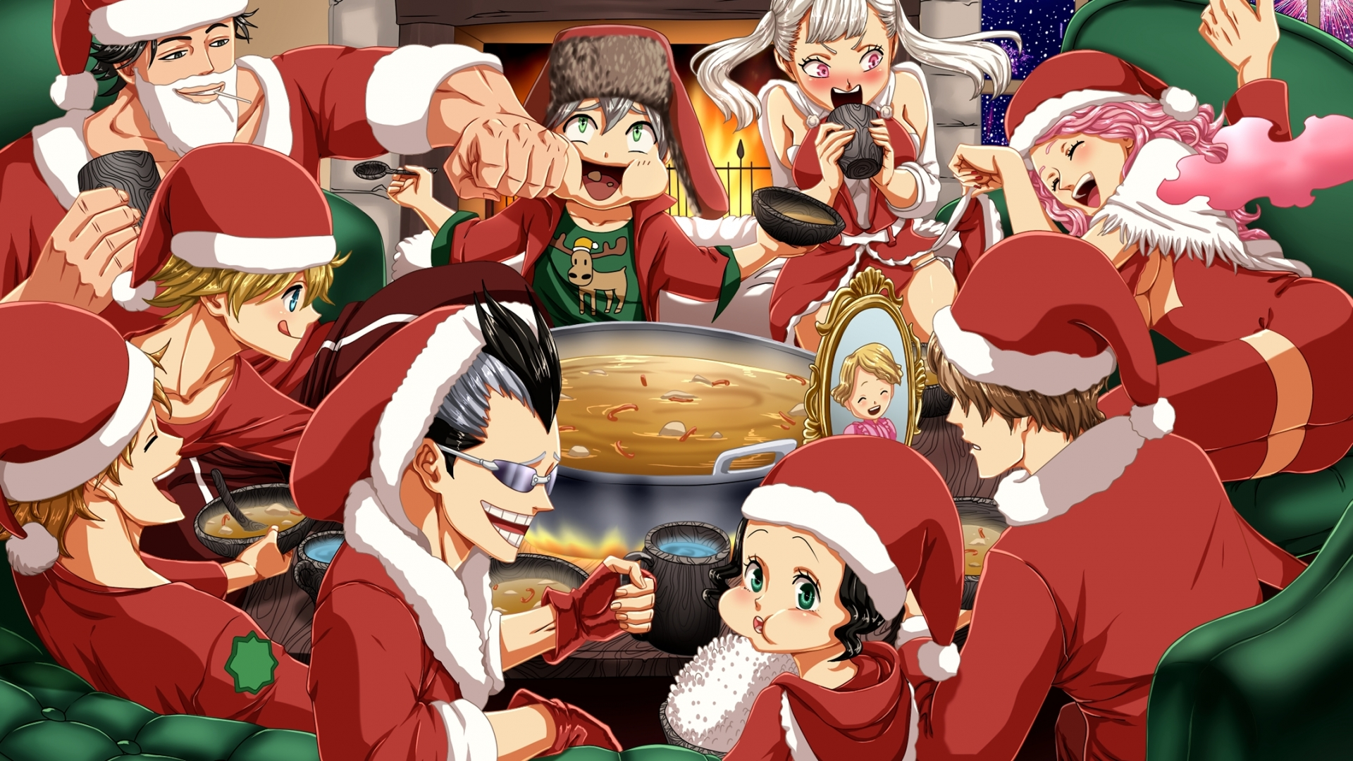 Characters From Black Clover Christmas Anime Wallpaper Id4083