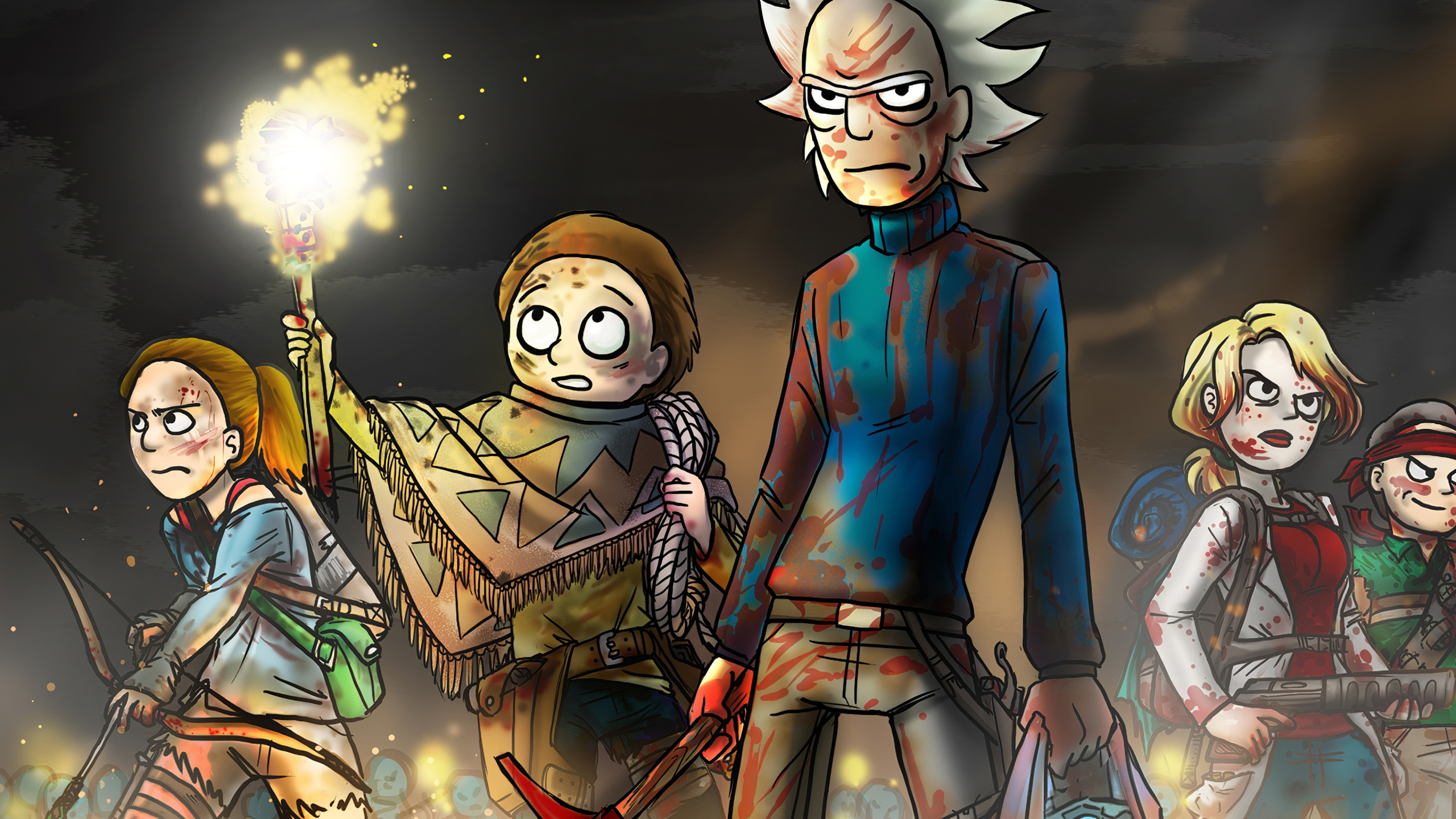 Rick And Morty In Battle Wallpaper 4k Ultra Hd Id 4119