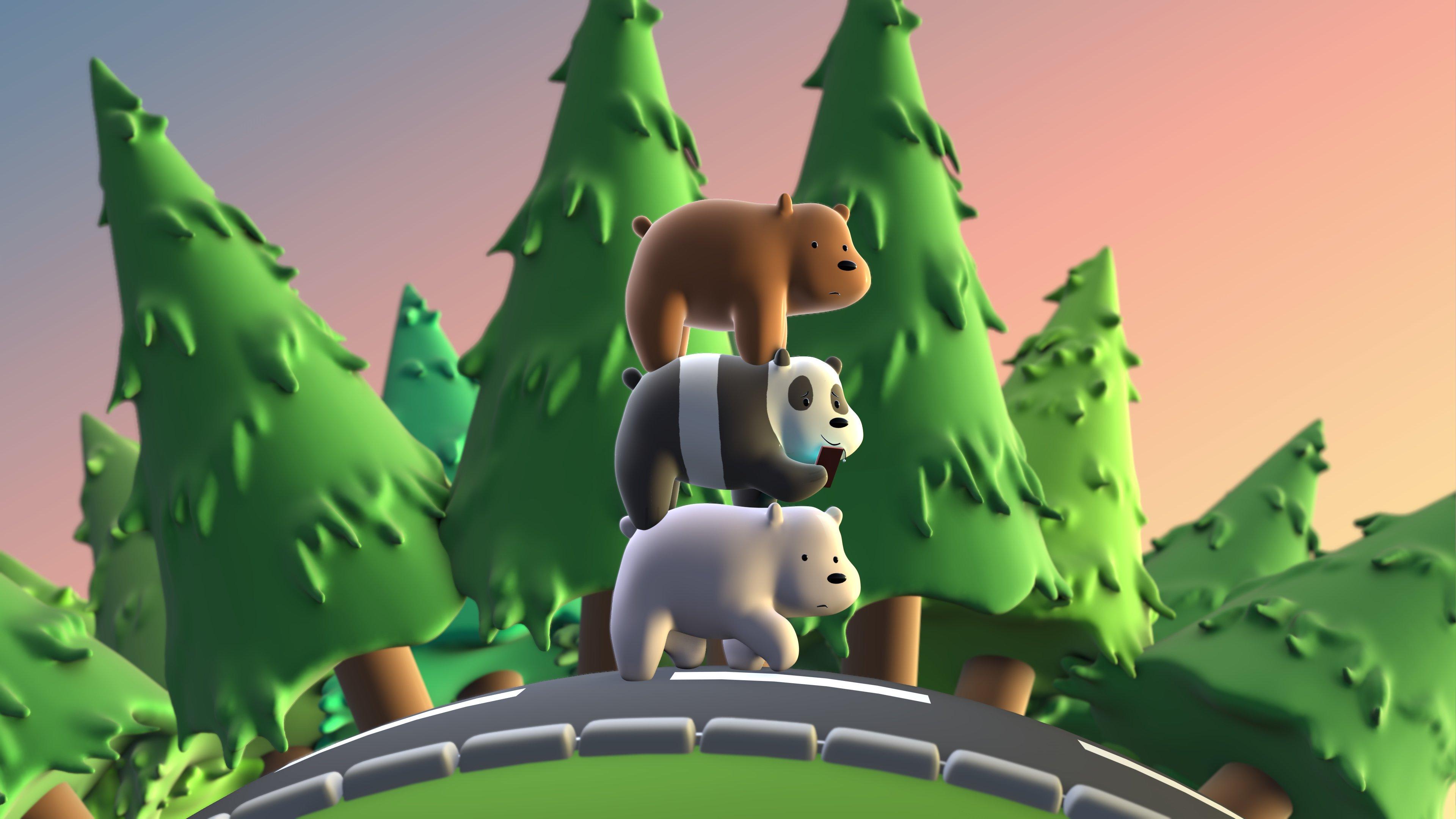 Fondos de pantalla 3D Escandalosos, Somos osos