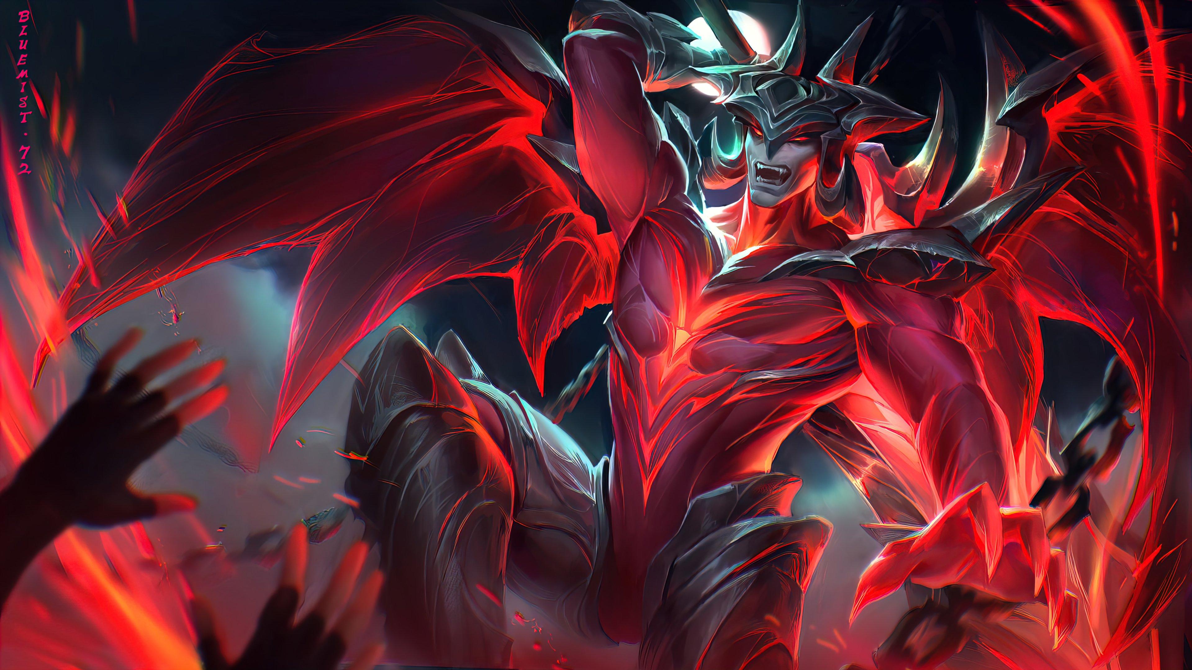 Wallpaper Aatrox League of Legends