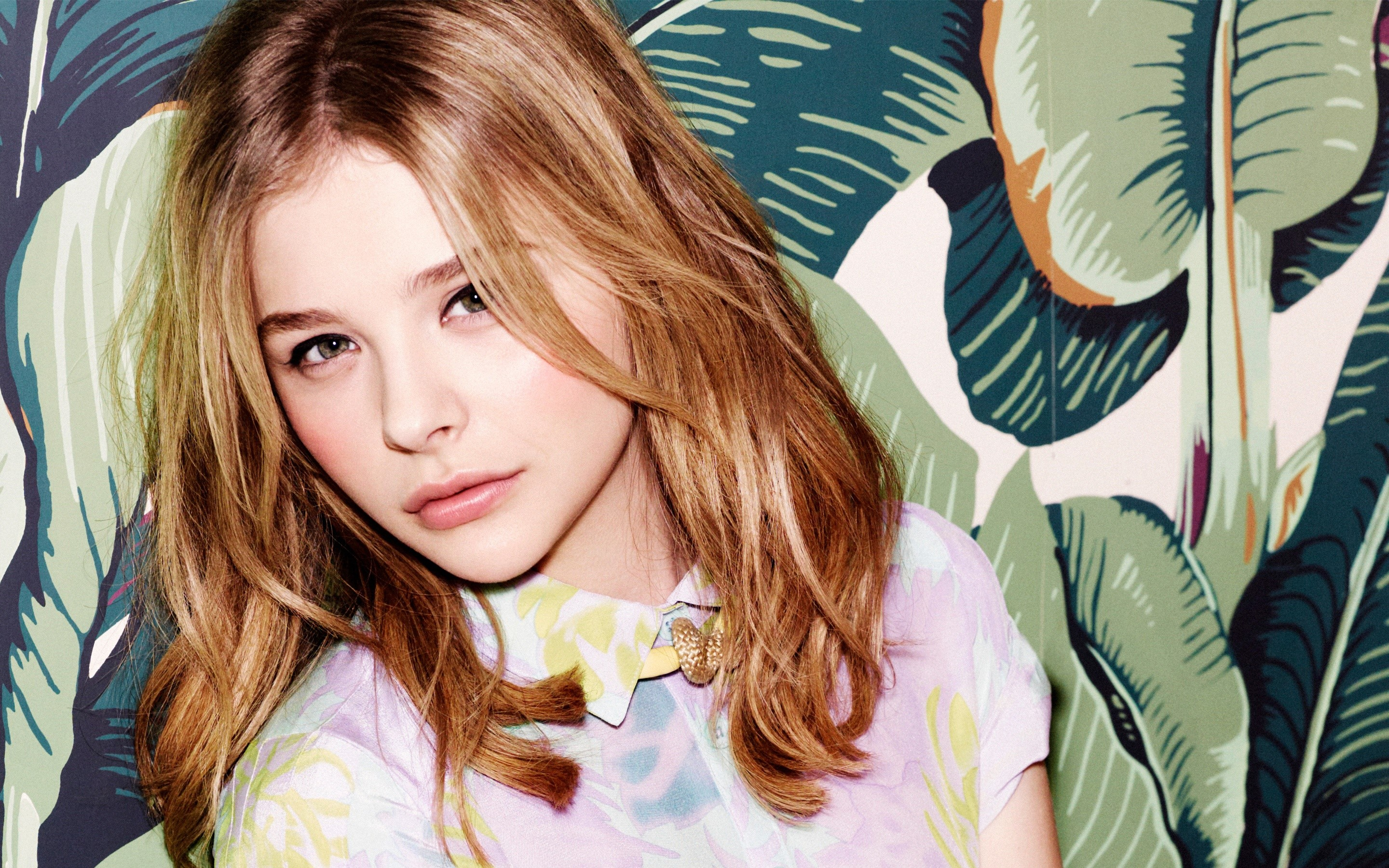Wallpaper Actress Chloe Moretz Blonde