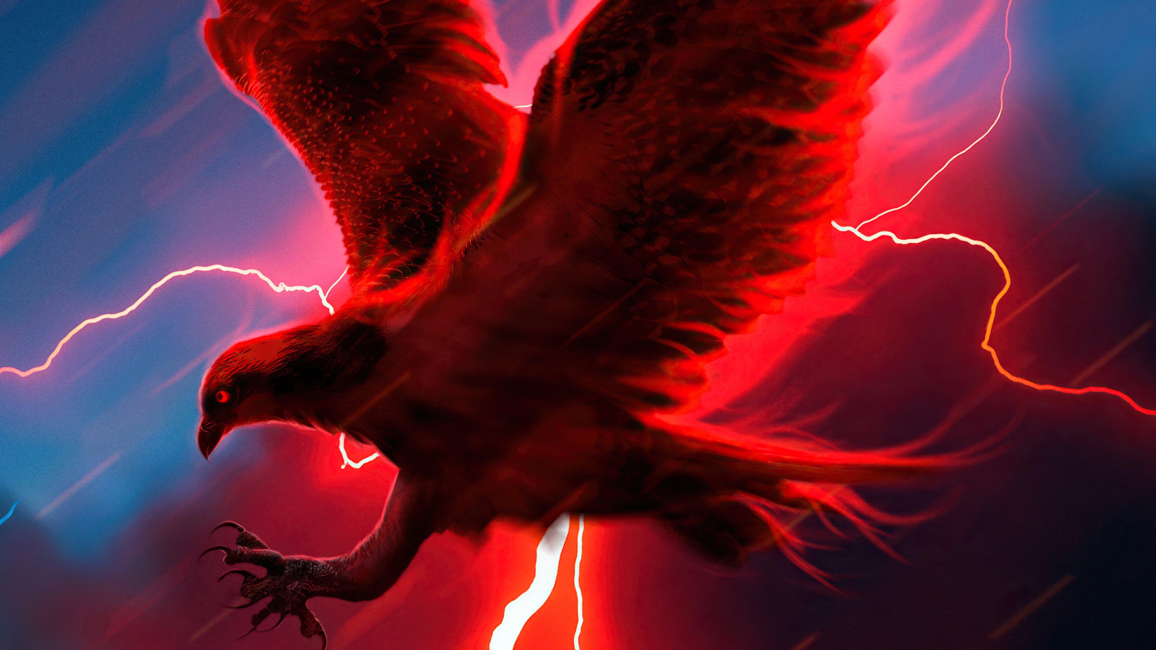 Fondos de pantalla Aguila con rayo de fondo