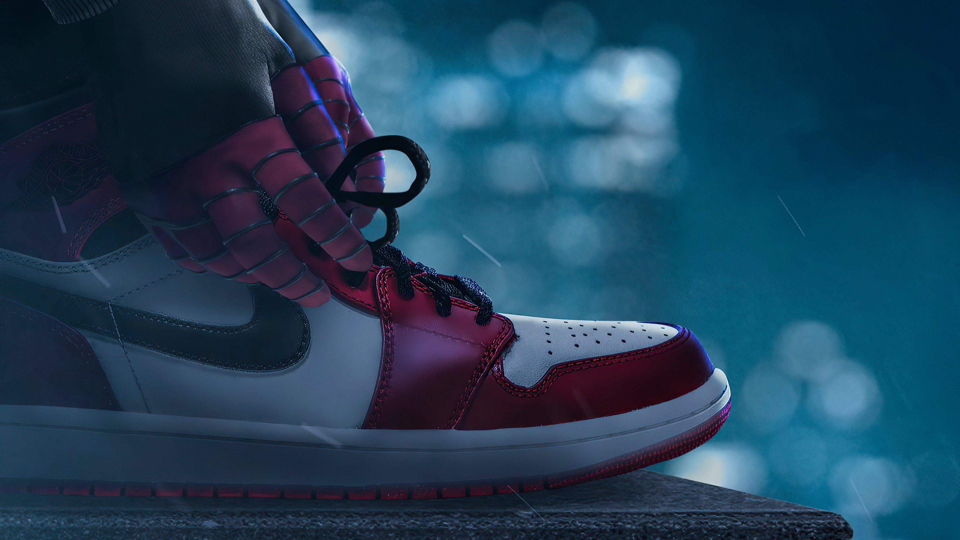 Fondos de pantalla Air Jordan Miles Morales como Spiderman