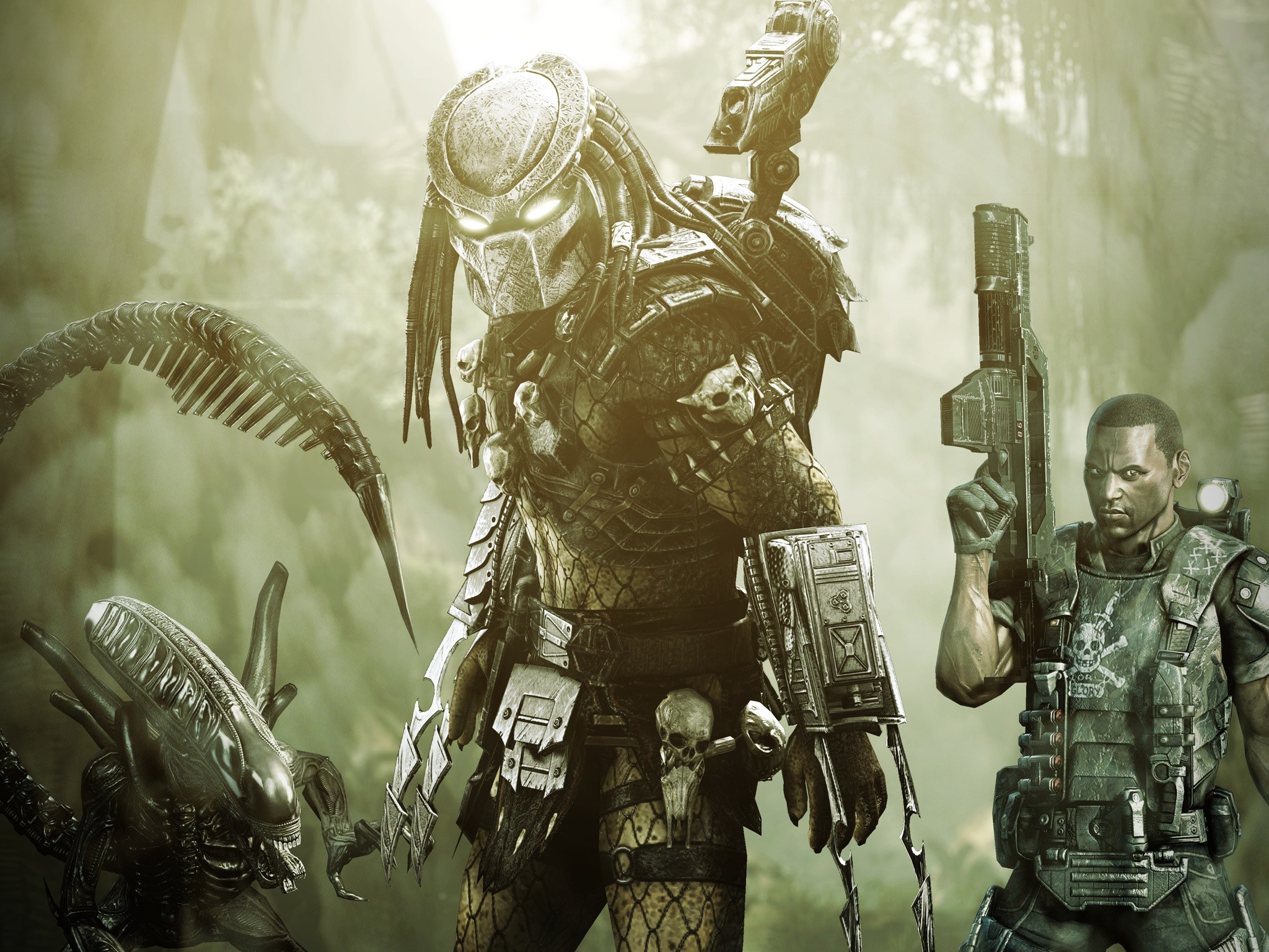 Wallpaper Aliens VS Predator