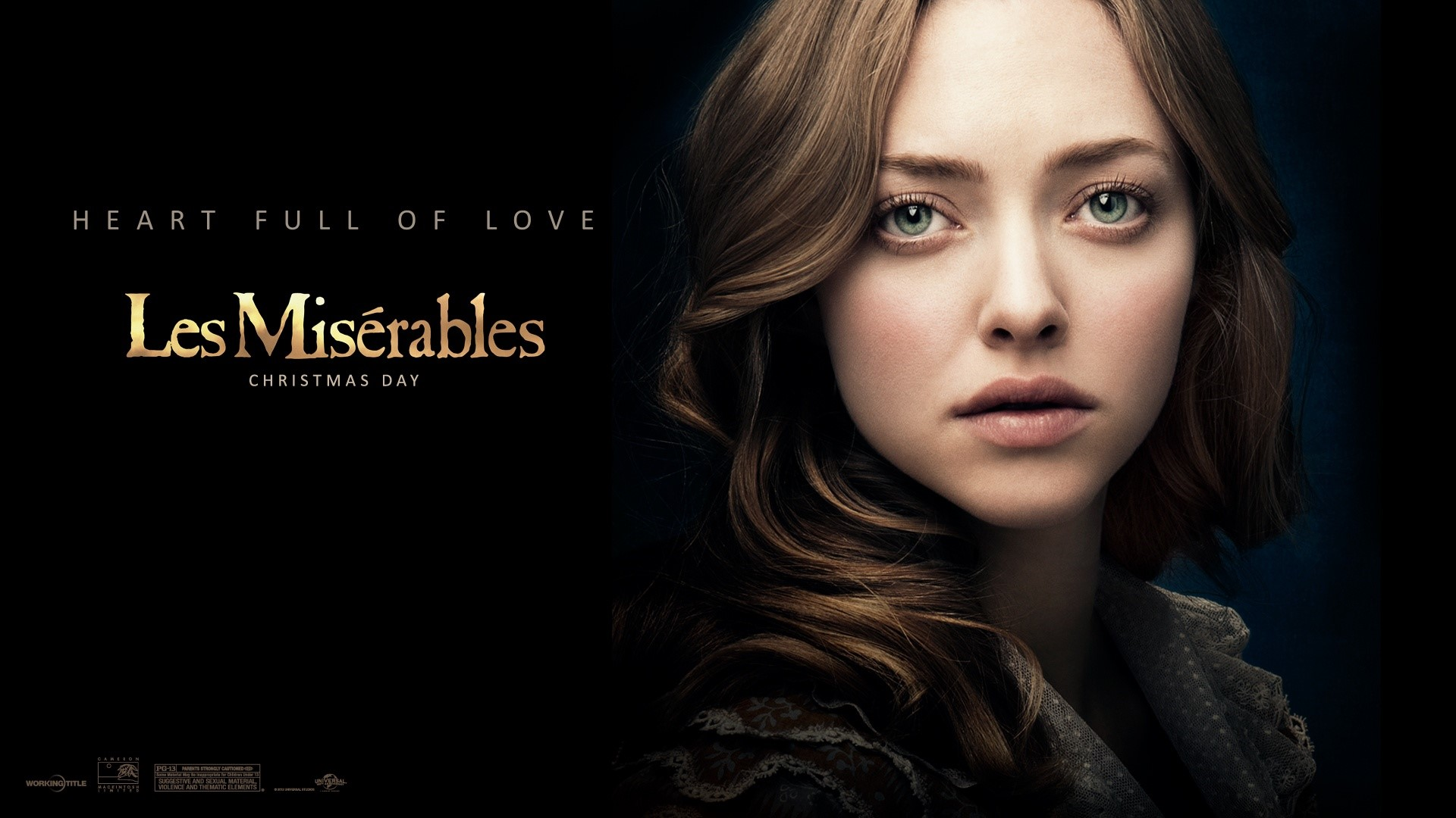 Wallpaper Amanda Seyfried as Fantine