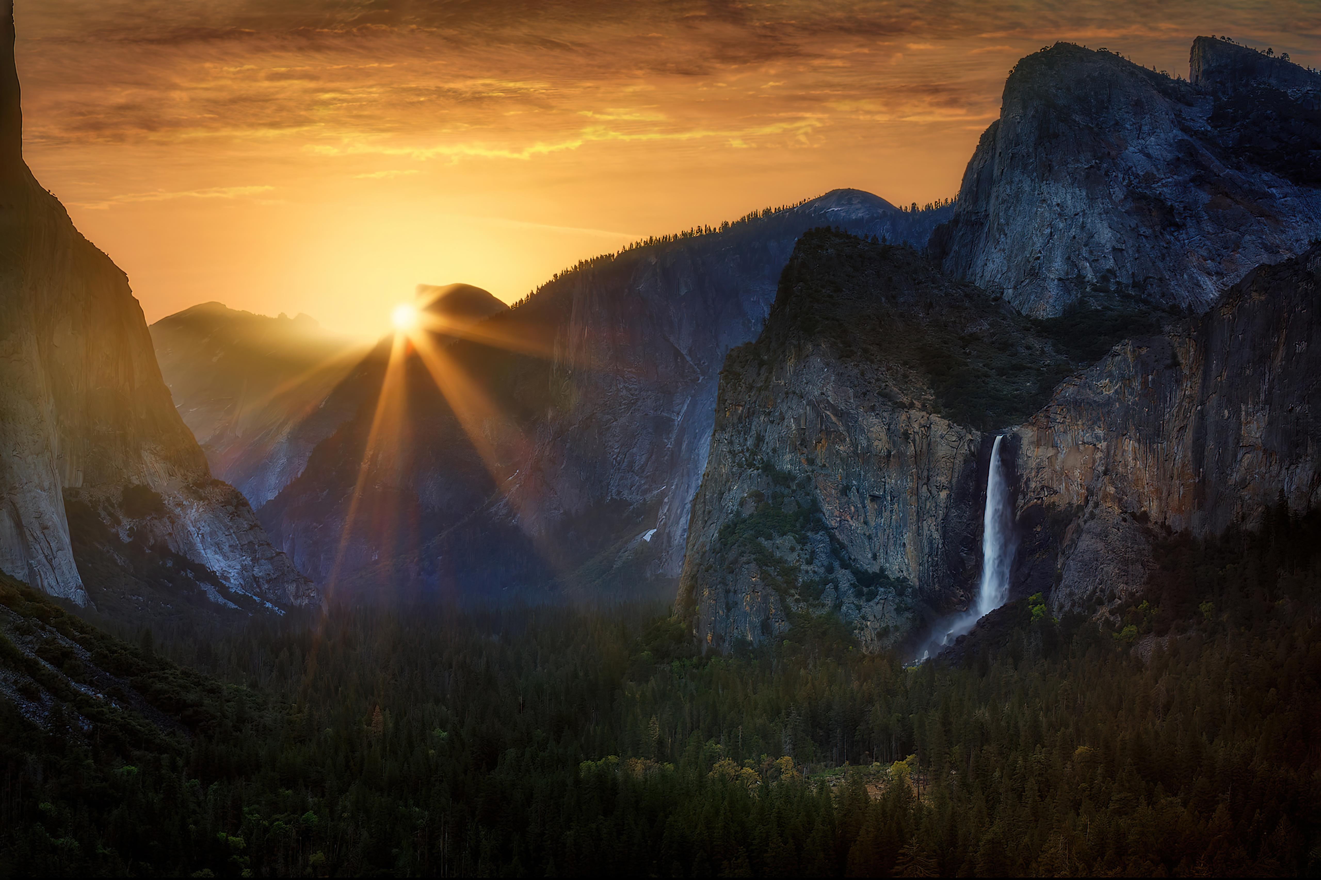 Wallpaper Sunrise at Yosemite National Park