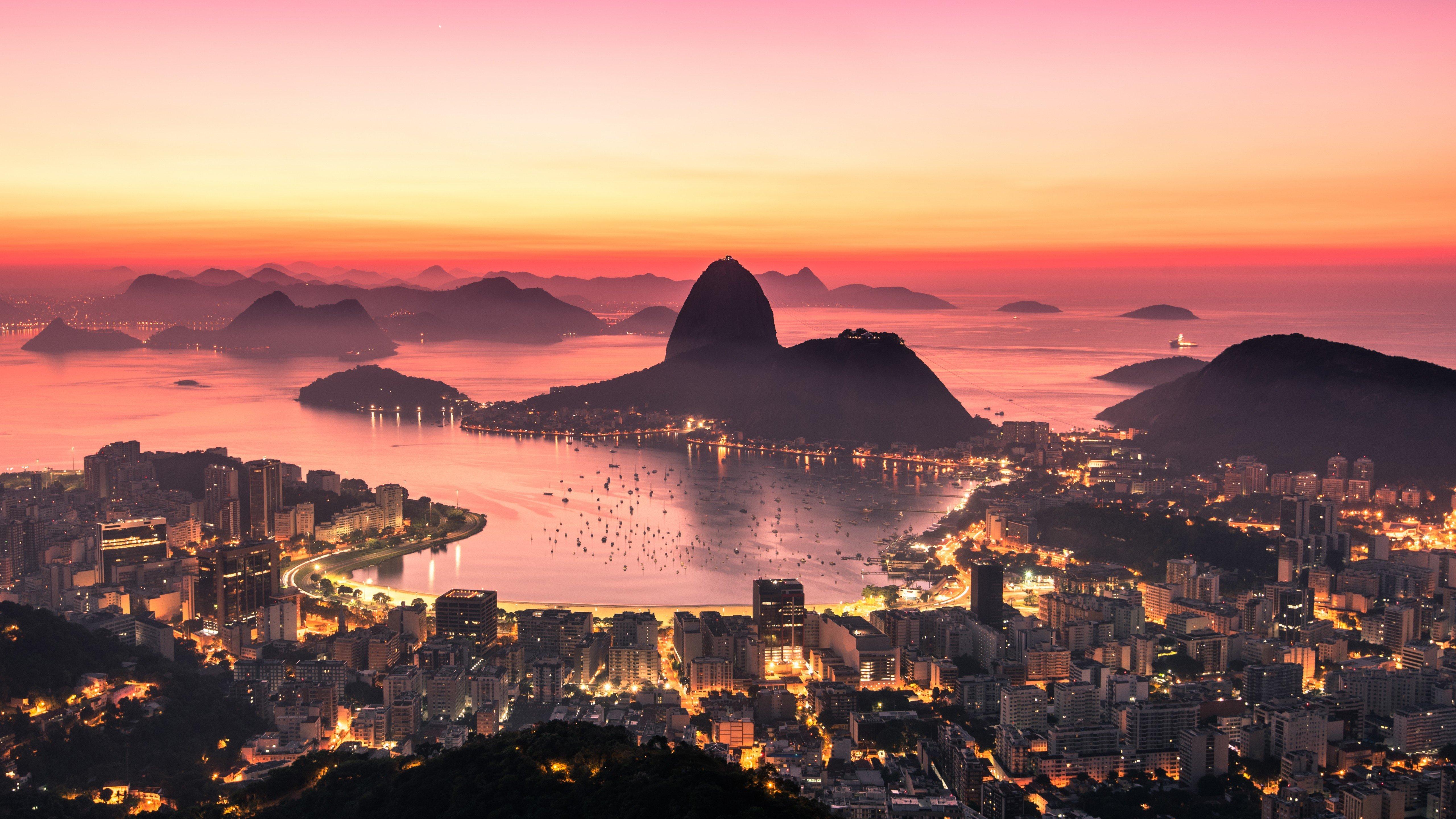 Fondos de pantalla Amanecer en Rio de Janeiro