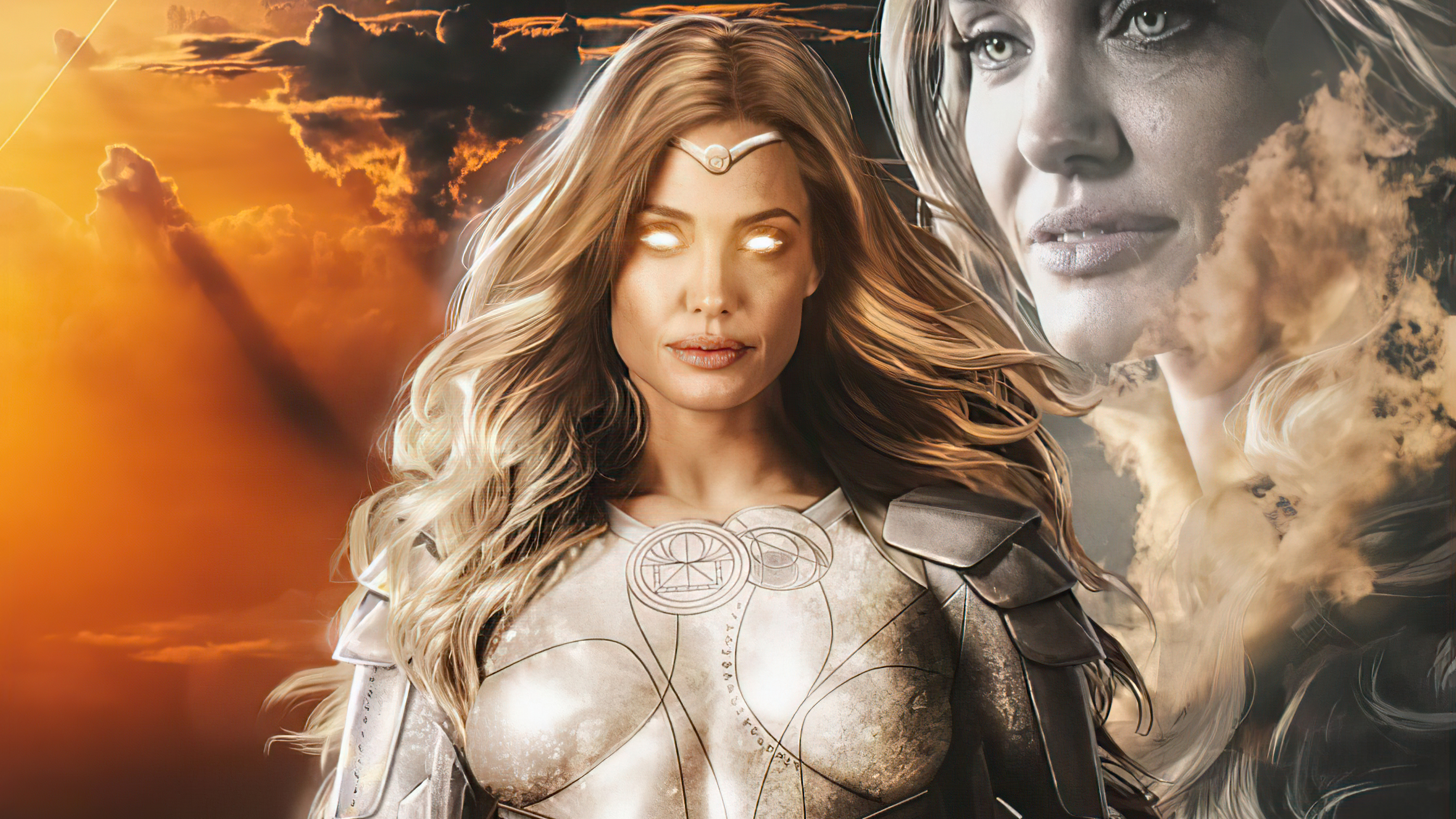 Wallpaper Angelina Jolie as Thena in The eternals