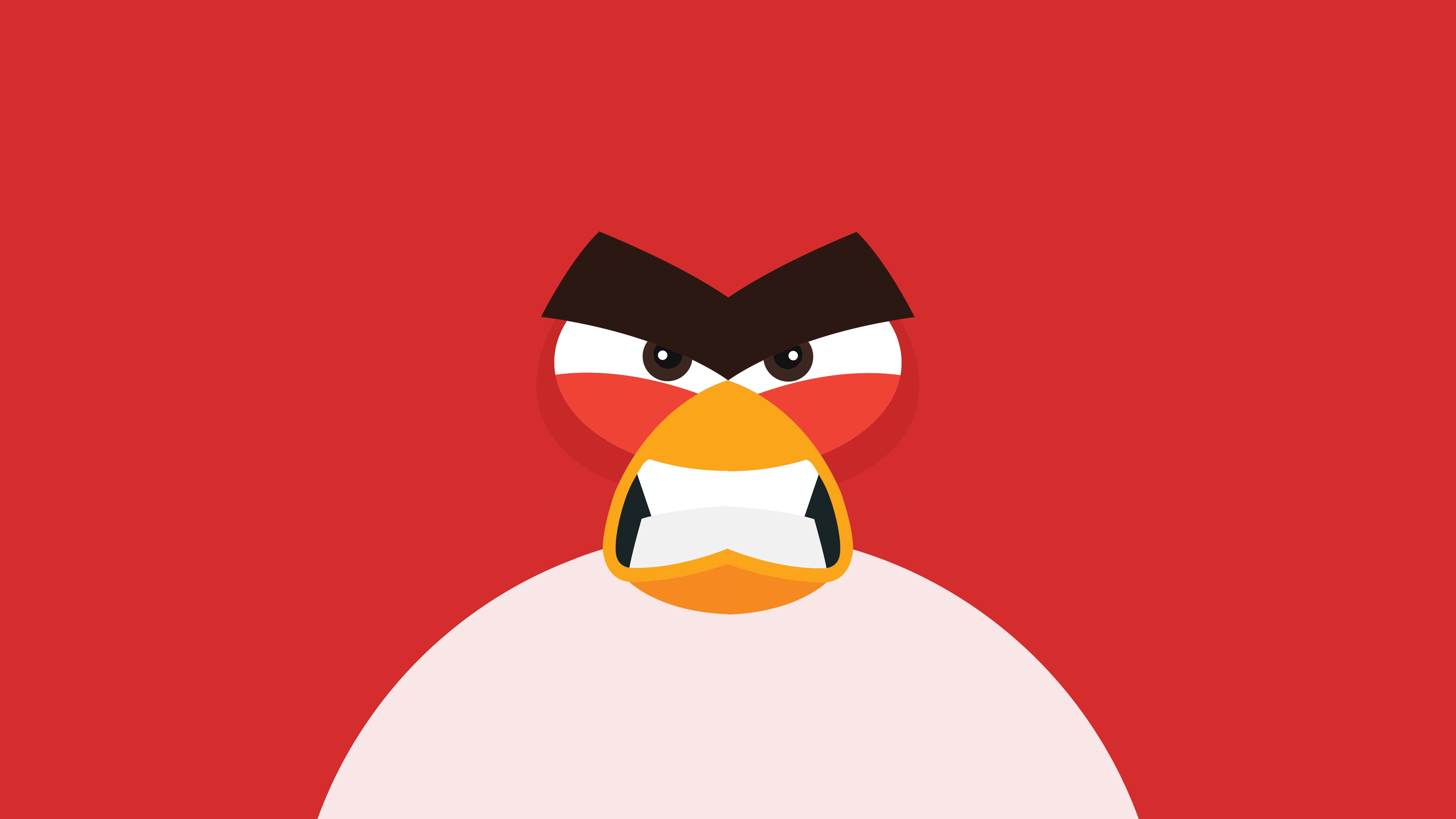 Fondos de pantalla Angry Bird Minimalista