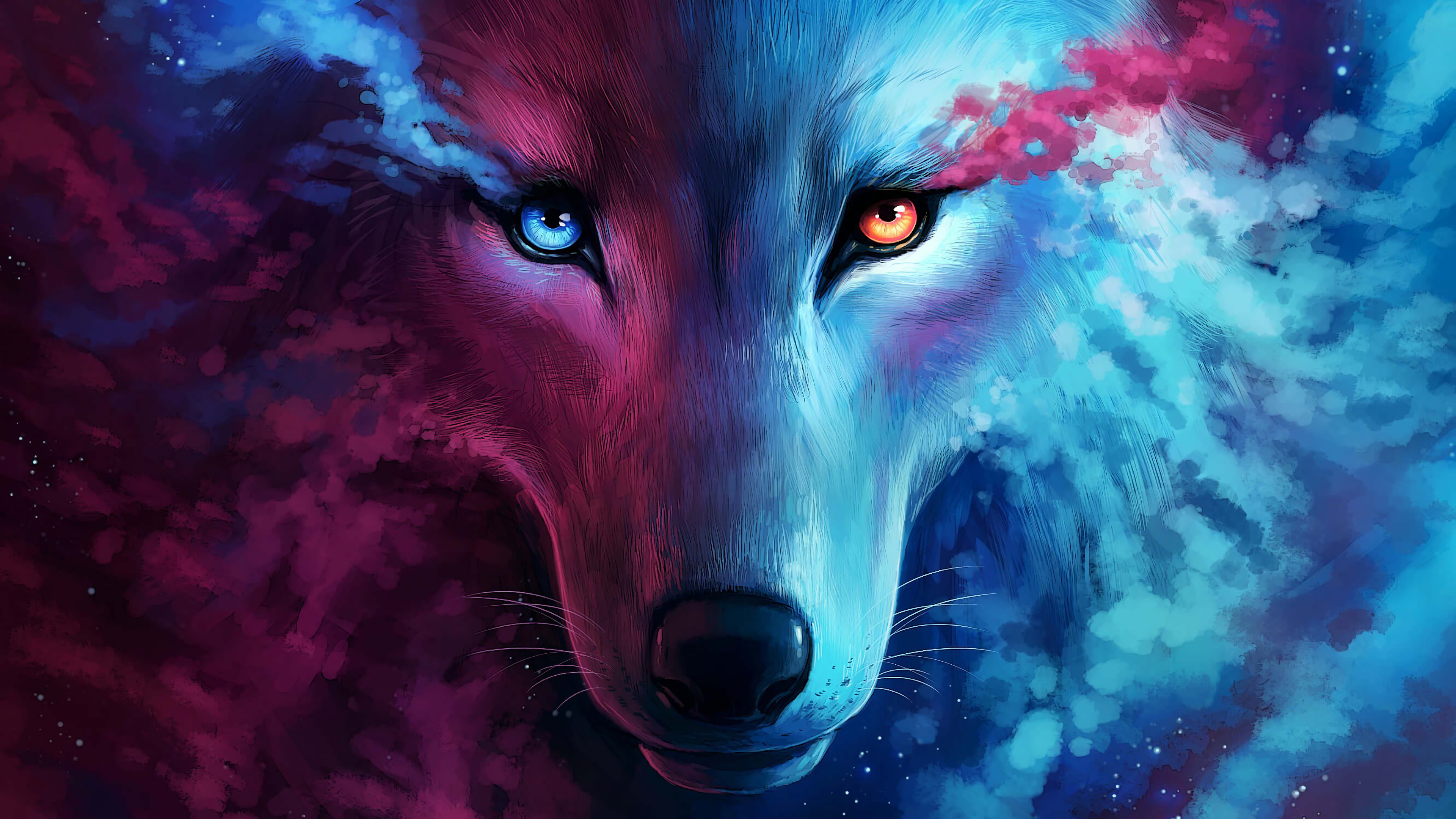 Fondos de pantalla Animación artística de lobo