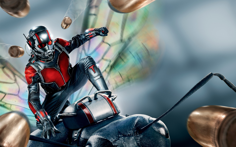 Wallpaper Ant Man dodging bullets