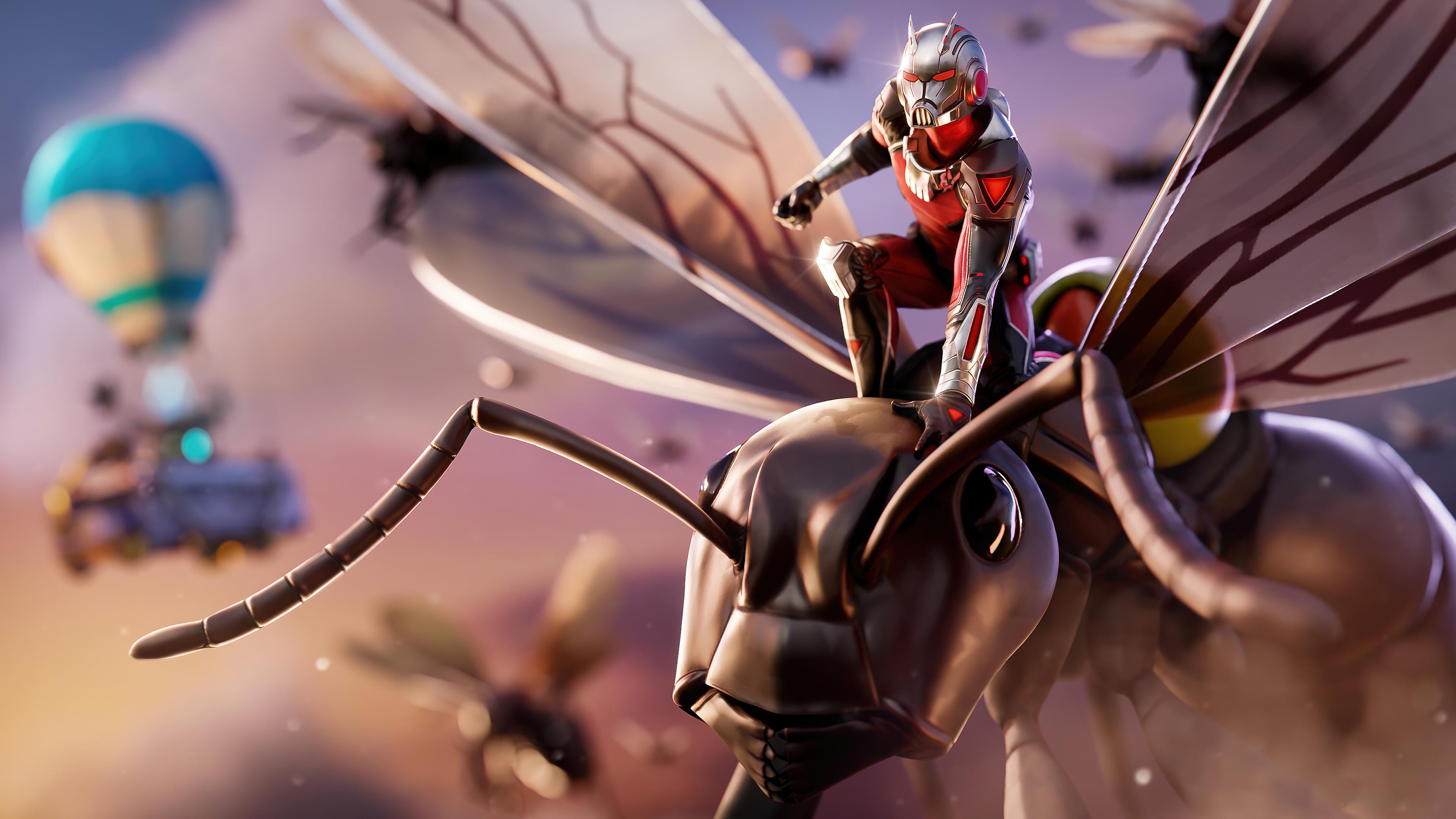 Wallpaper Ant Man Fortnite Style