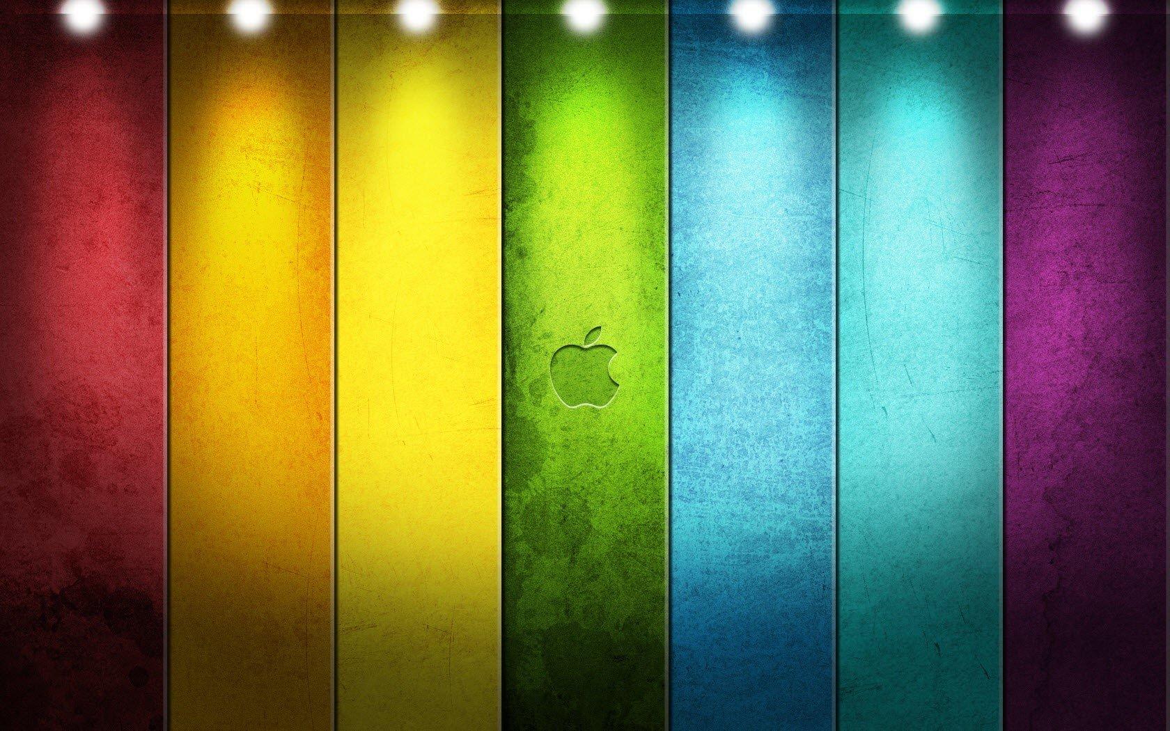 Fondo de pantalla de Apple en colores Imágenes