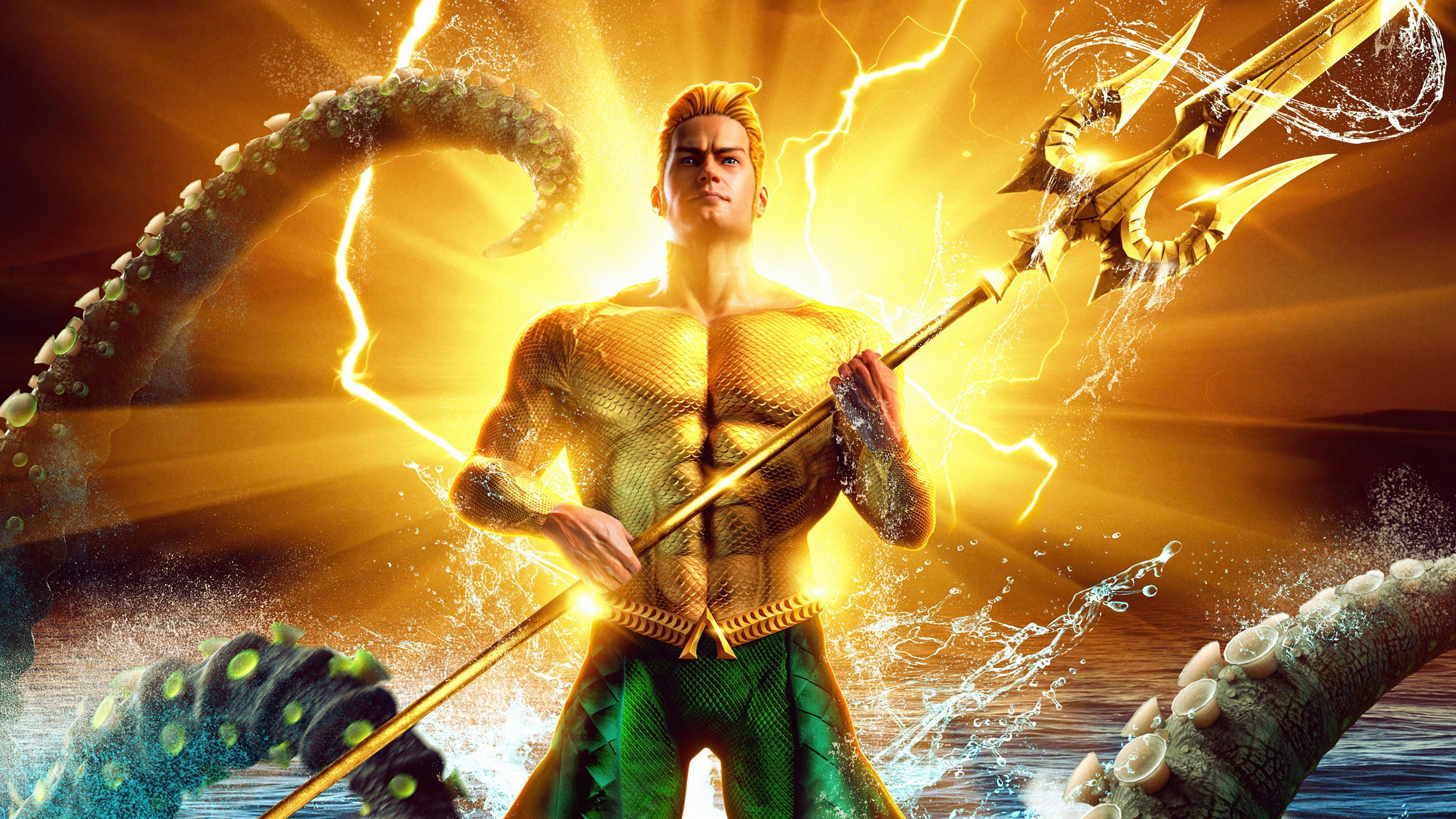 Fondos de pantalla Aquaman Comic Dorado