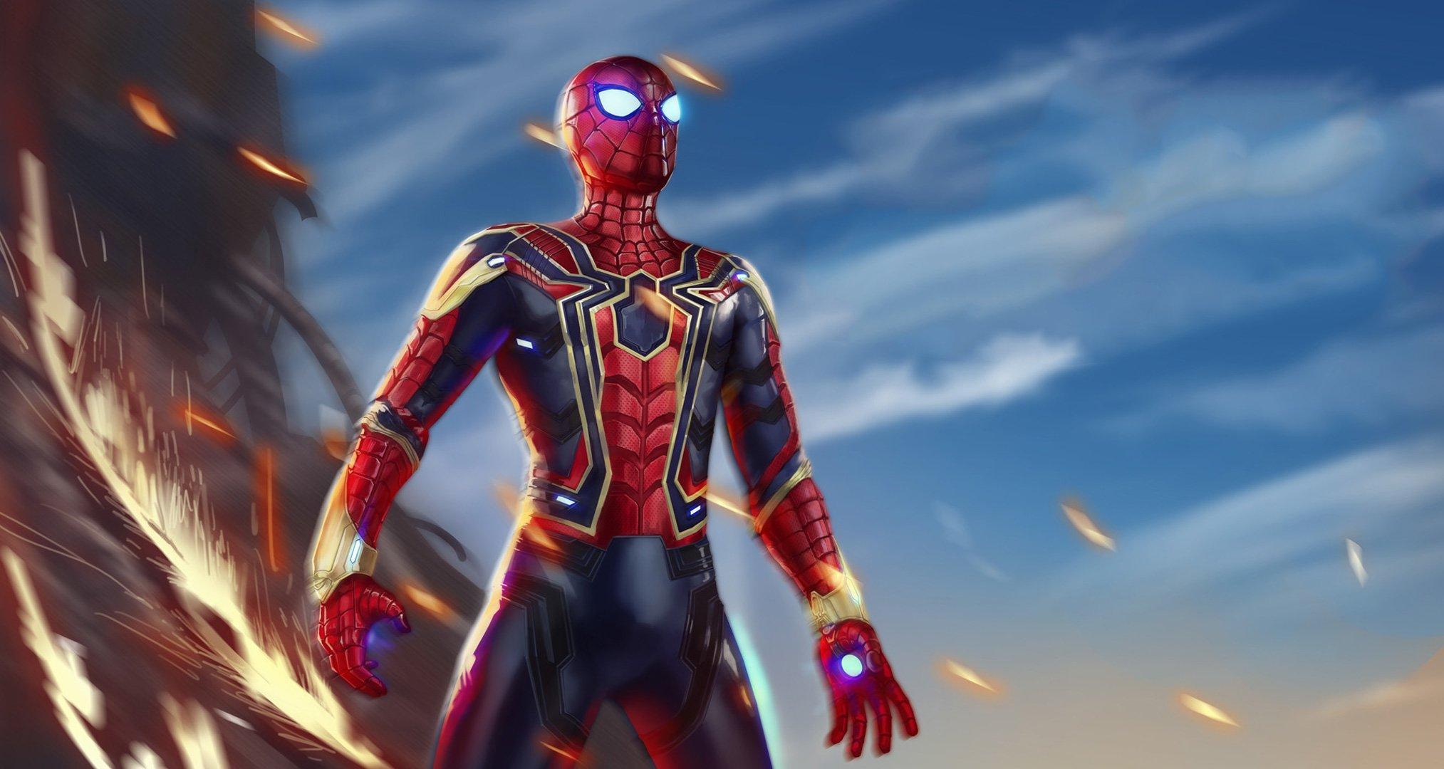 Wallpaper Iron Spiderman Avengers Infinity War