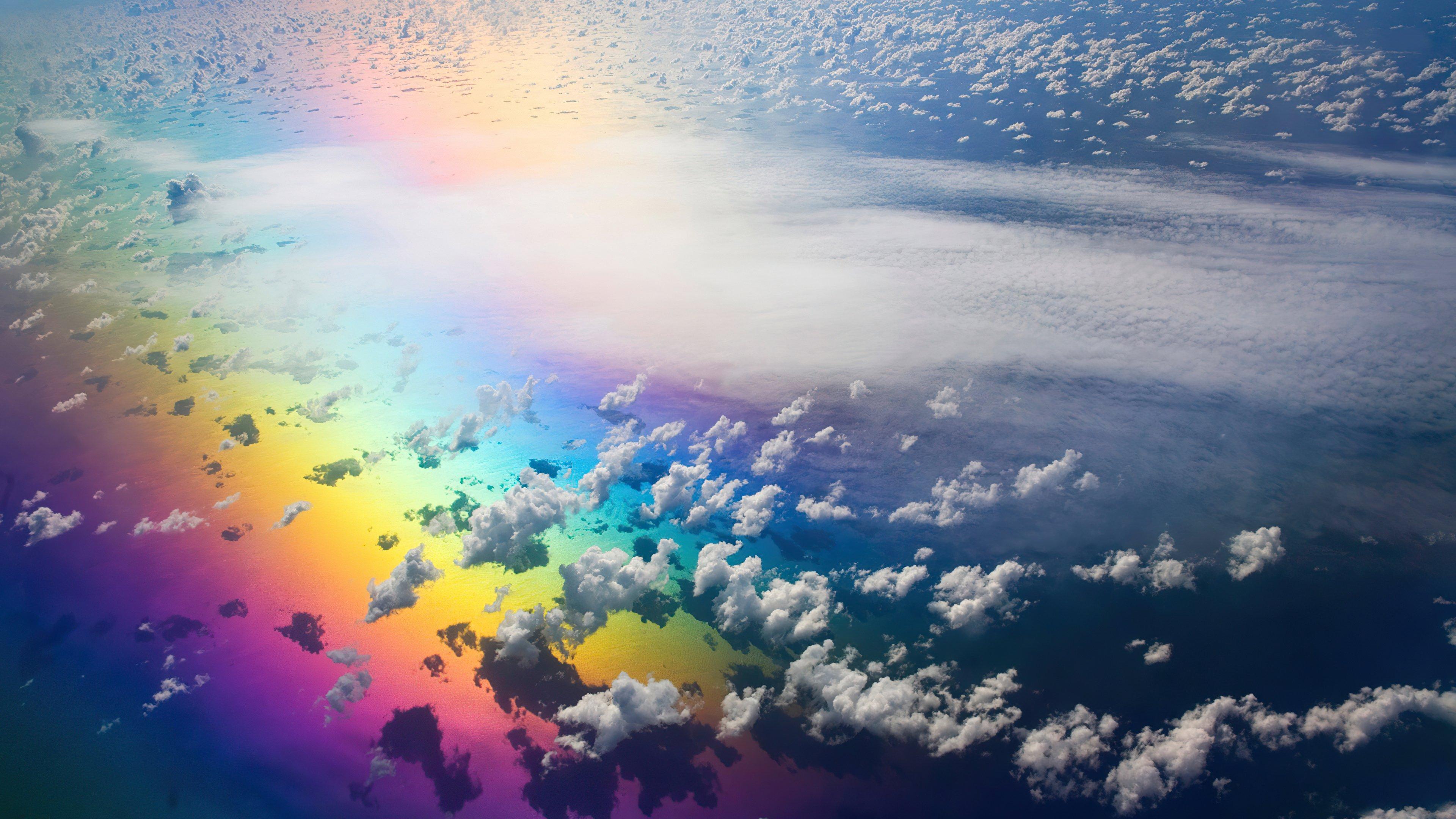 Fondos de pantalla Arcoiris en las nubes