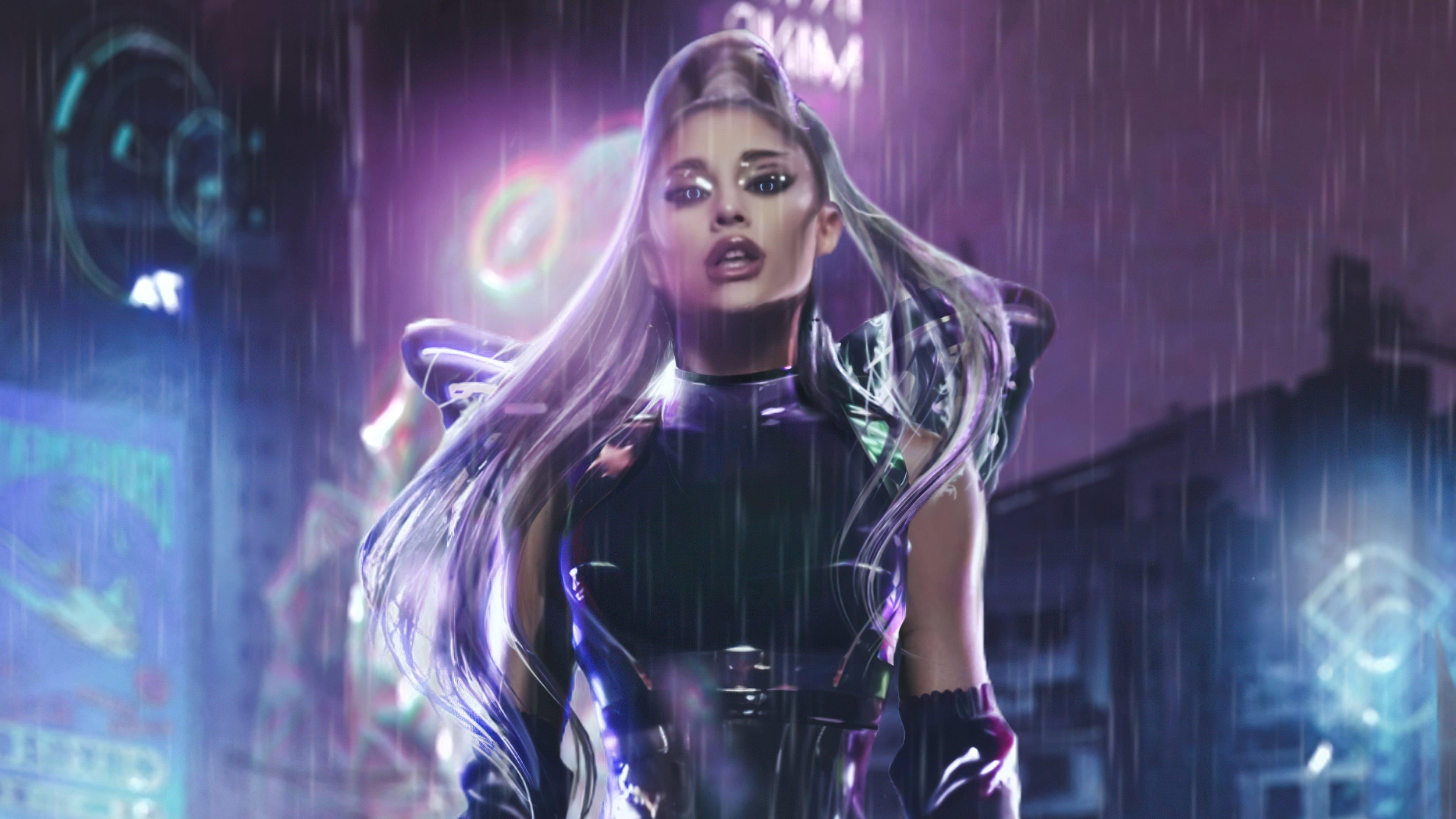 Wallpaper Ariana Grande Rain on me