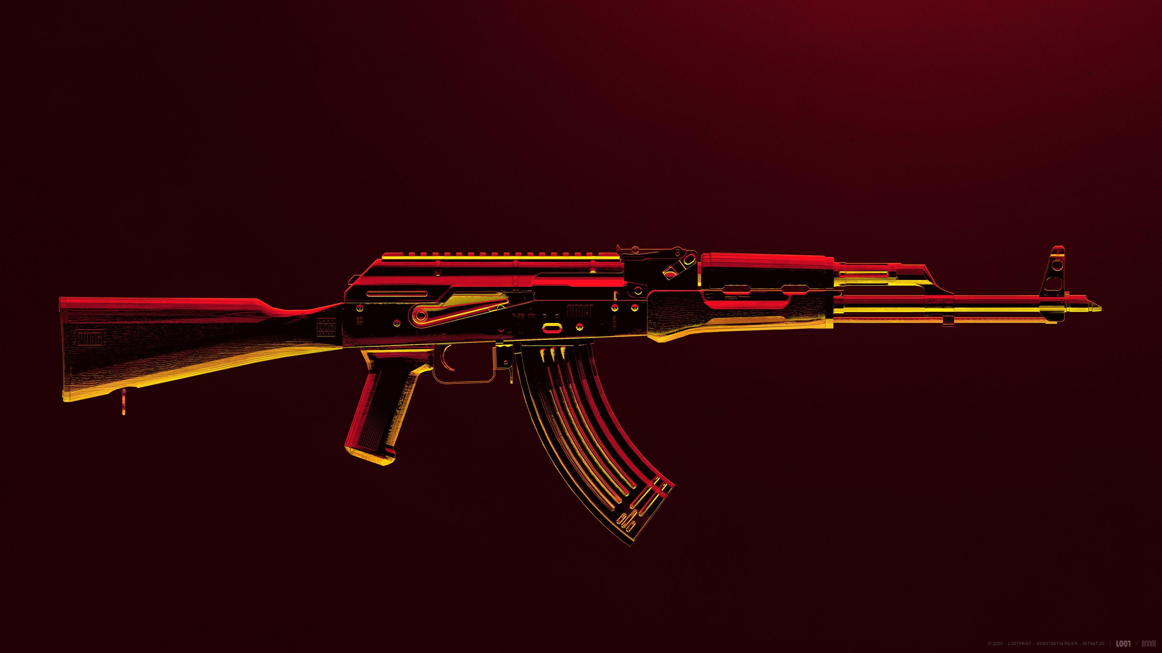 Fondos de pantalla Arma AK47 de PUBG