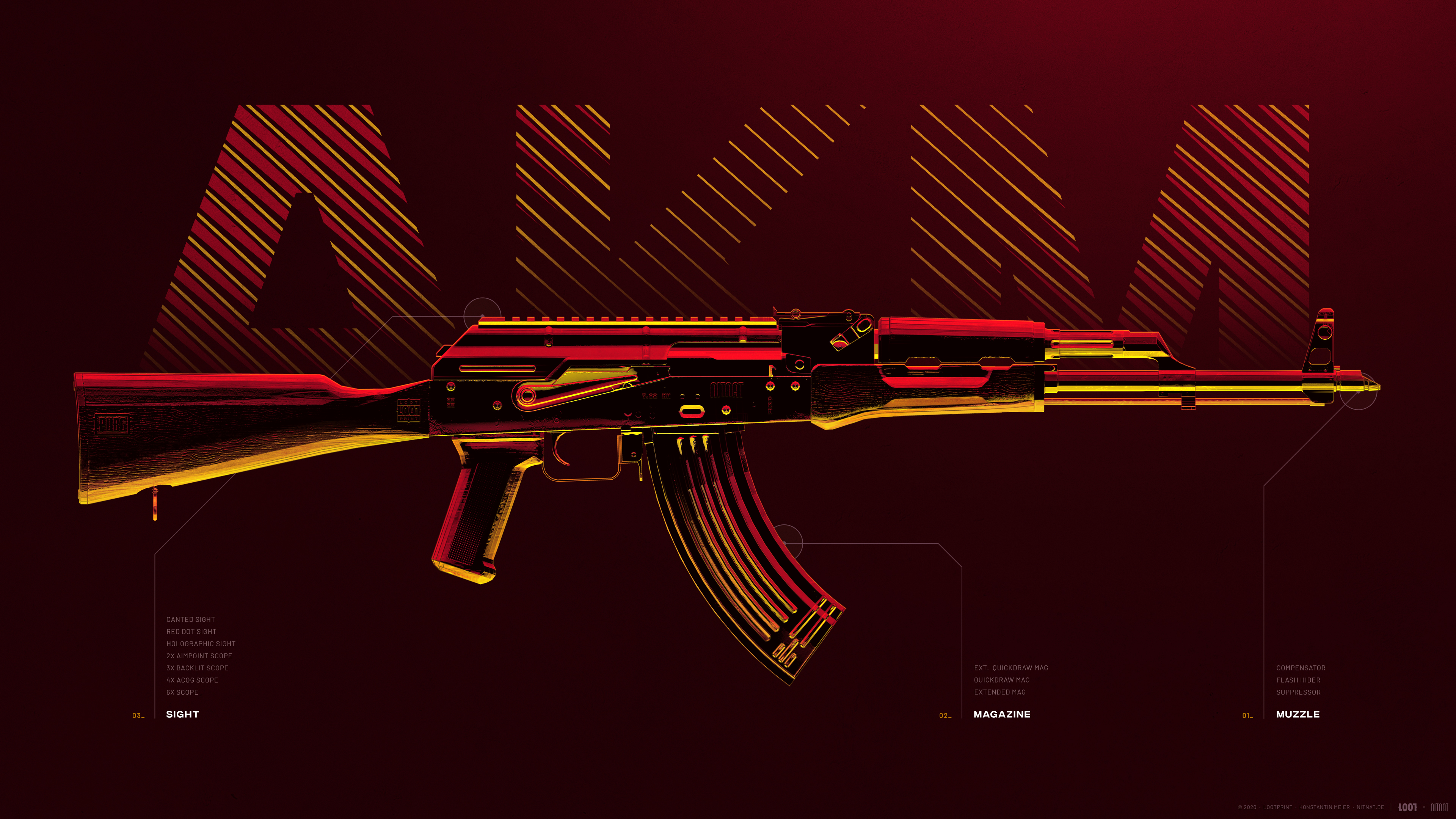 Fondos de pantalla Arma AKM de PUBG