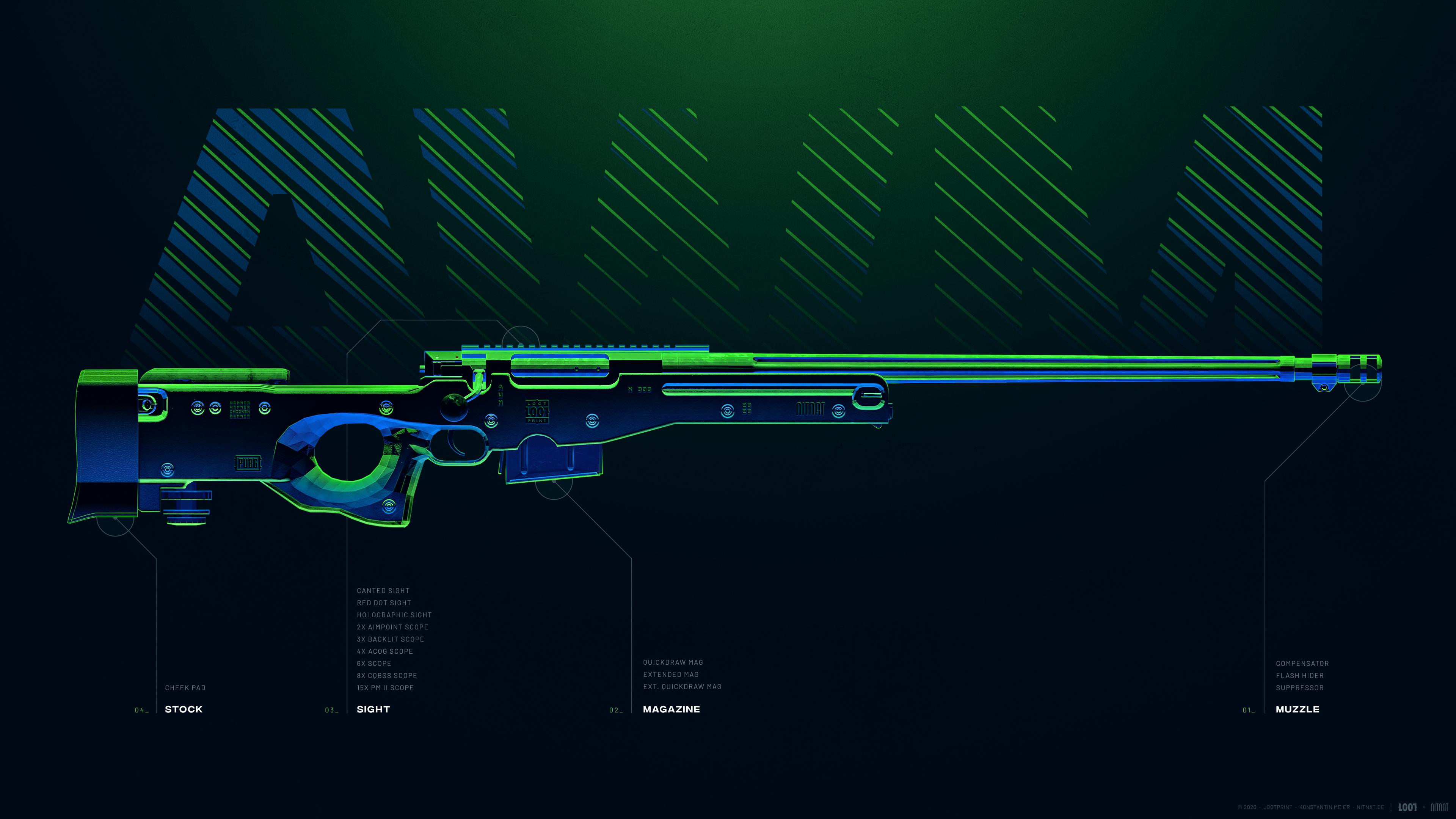 Fondos de pantalla Arma AWM de PUBG