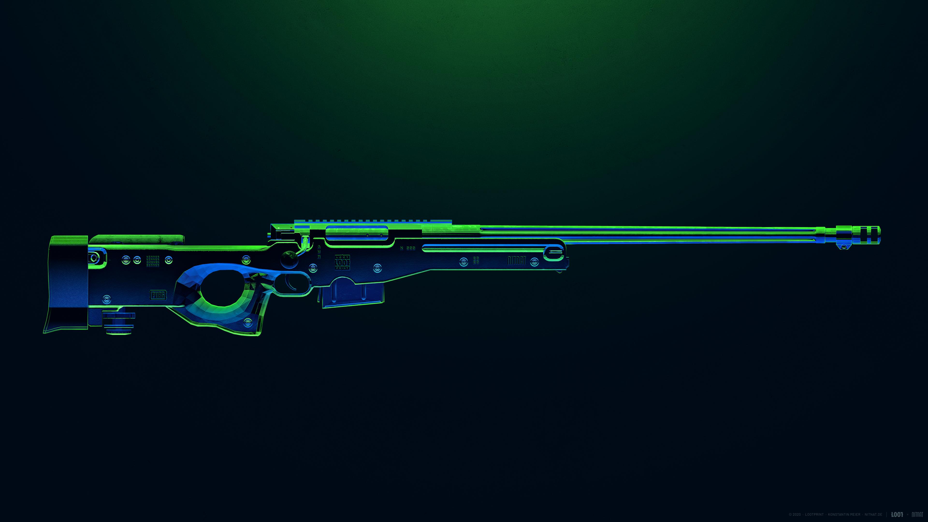 Wallpaper PUBG AWM Weapon