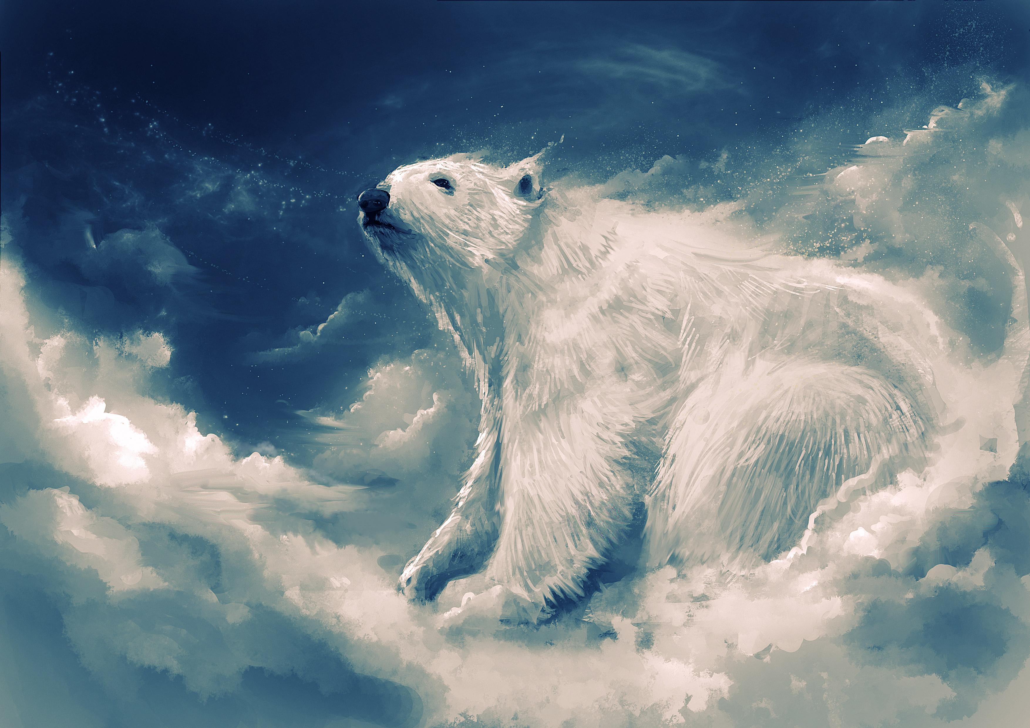 Fondos de pantalla Arte de oso polar