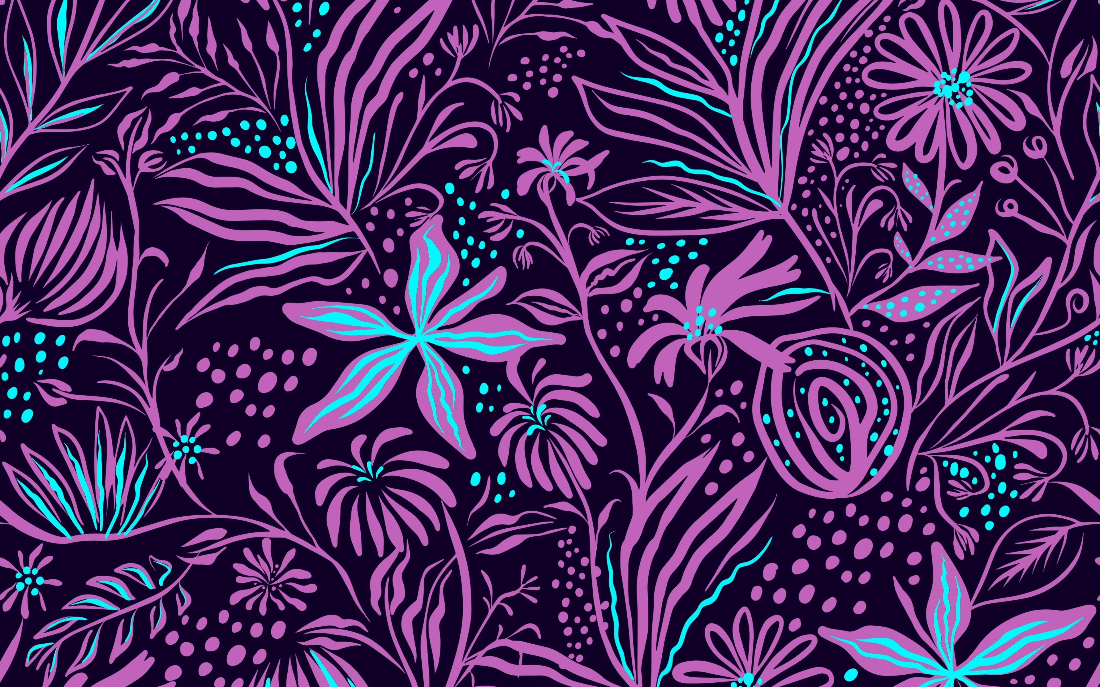Fondos de pantalla Arte flores rosas con azul