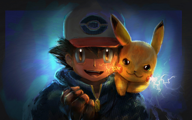 Fondos de pantalla Ash y Pikachu artwork