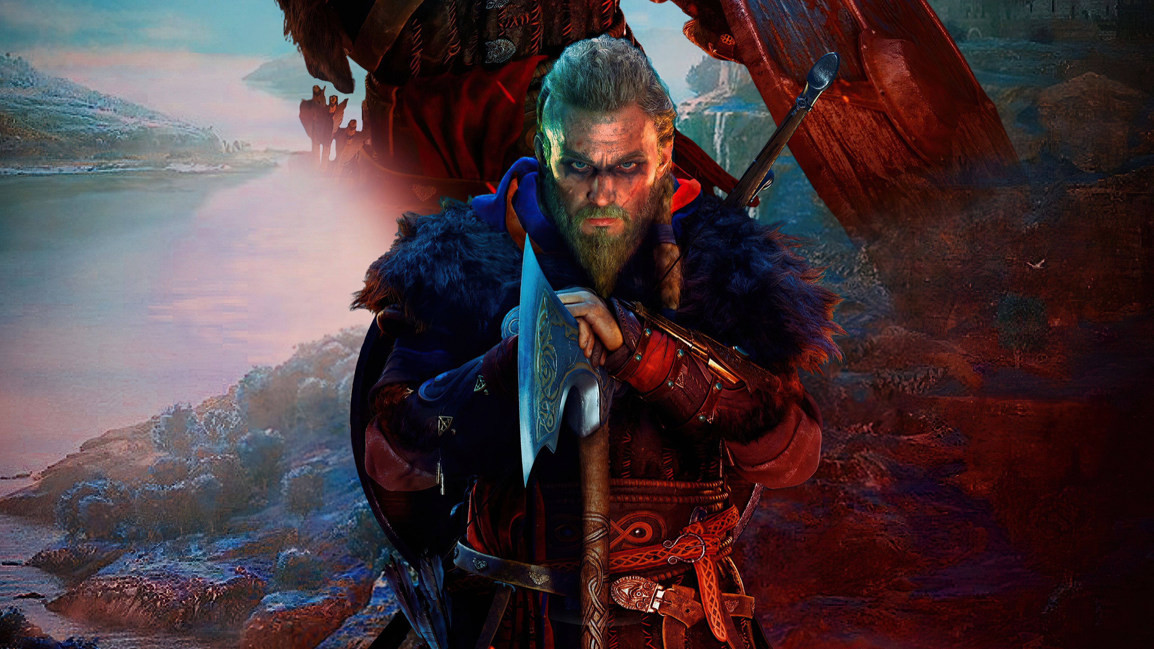 Wallpaper Assassins Creed Valhalla PS5 2021