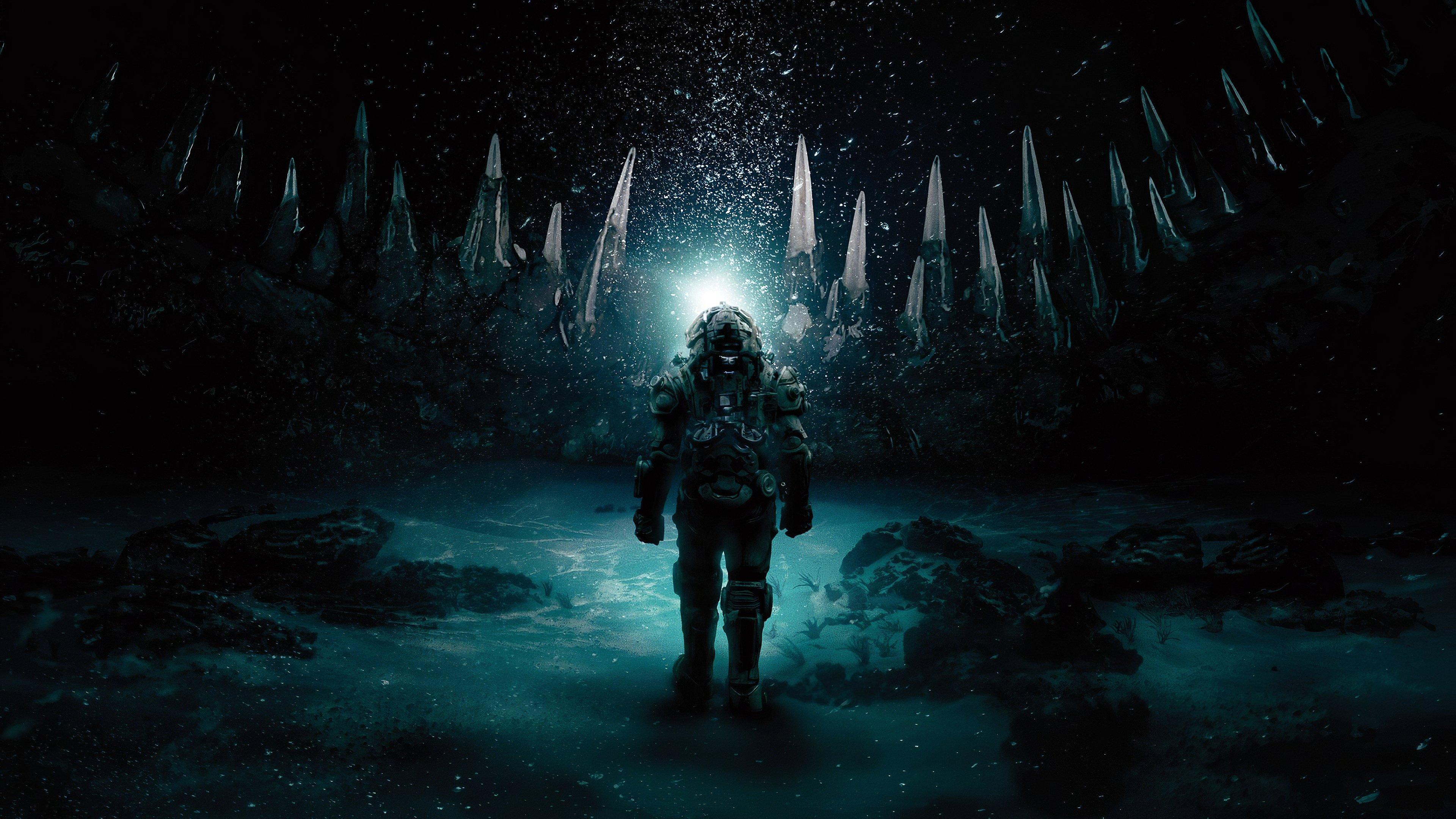 Fondos de pantalla Astronauta bajo el agua