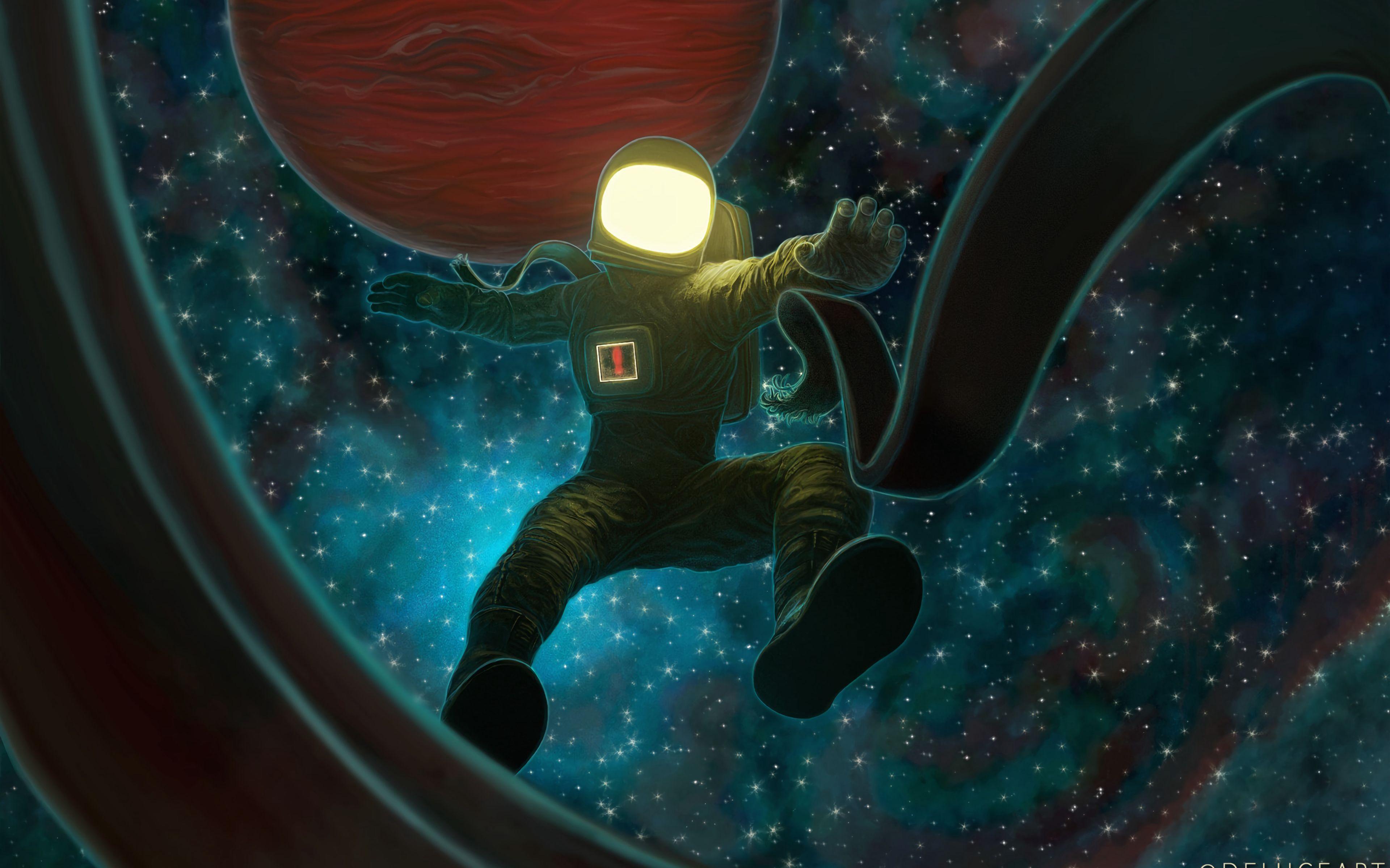 Fondos de pantalla Astronauta cayendo en el espacio