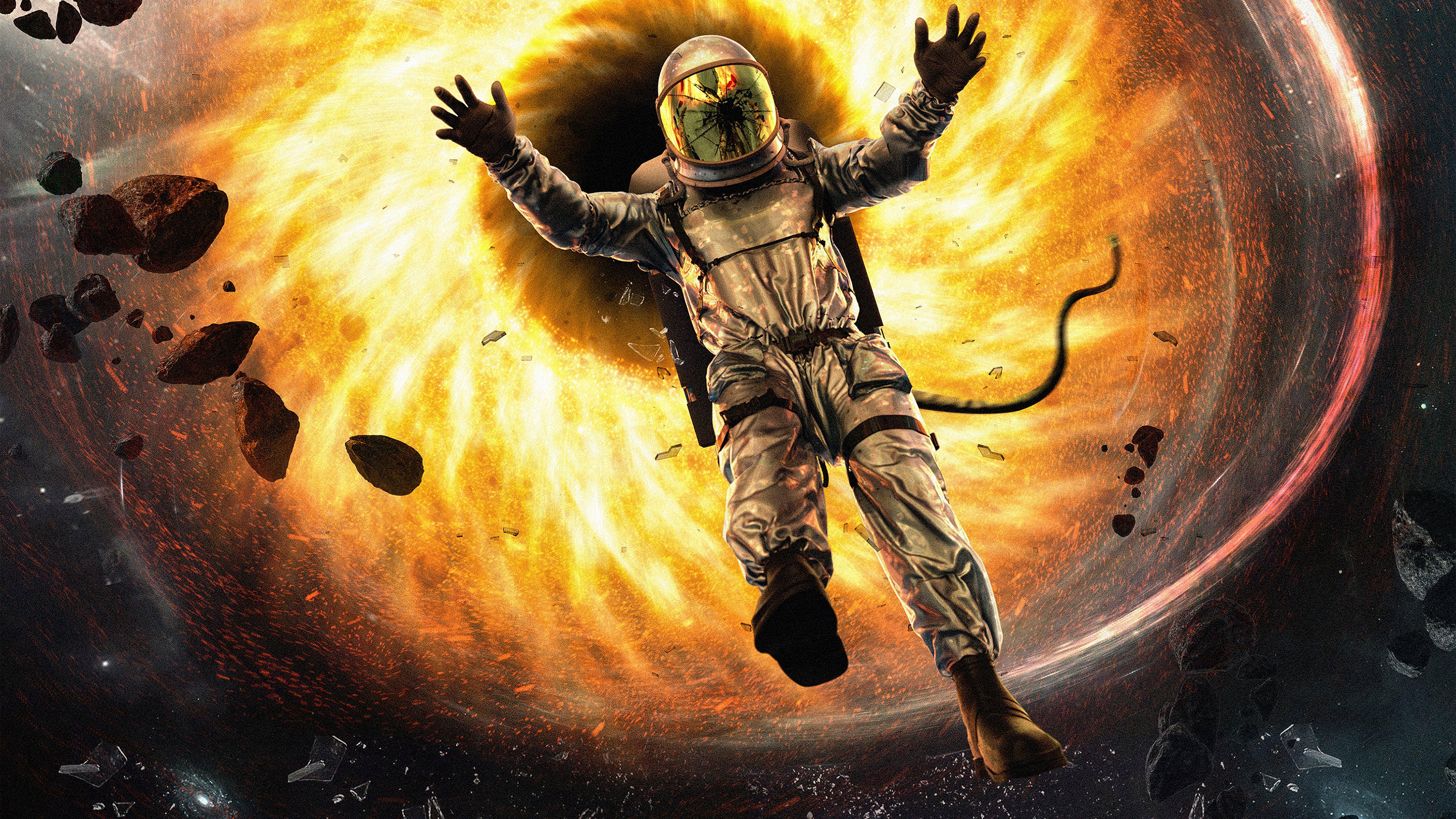 Fondos de pantalla Astronauta cayendose a hoyo negro