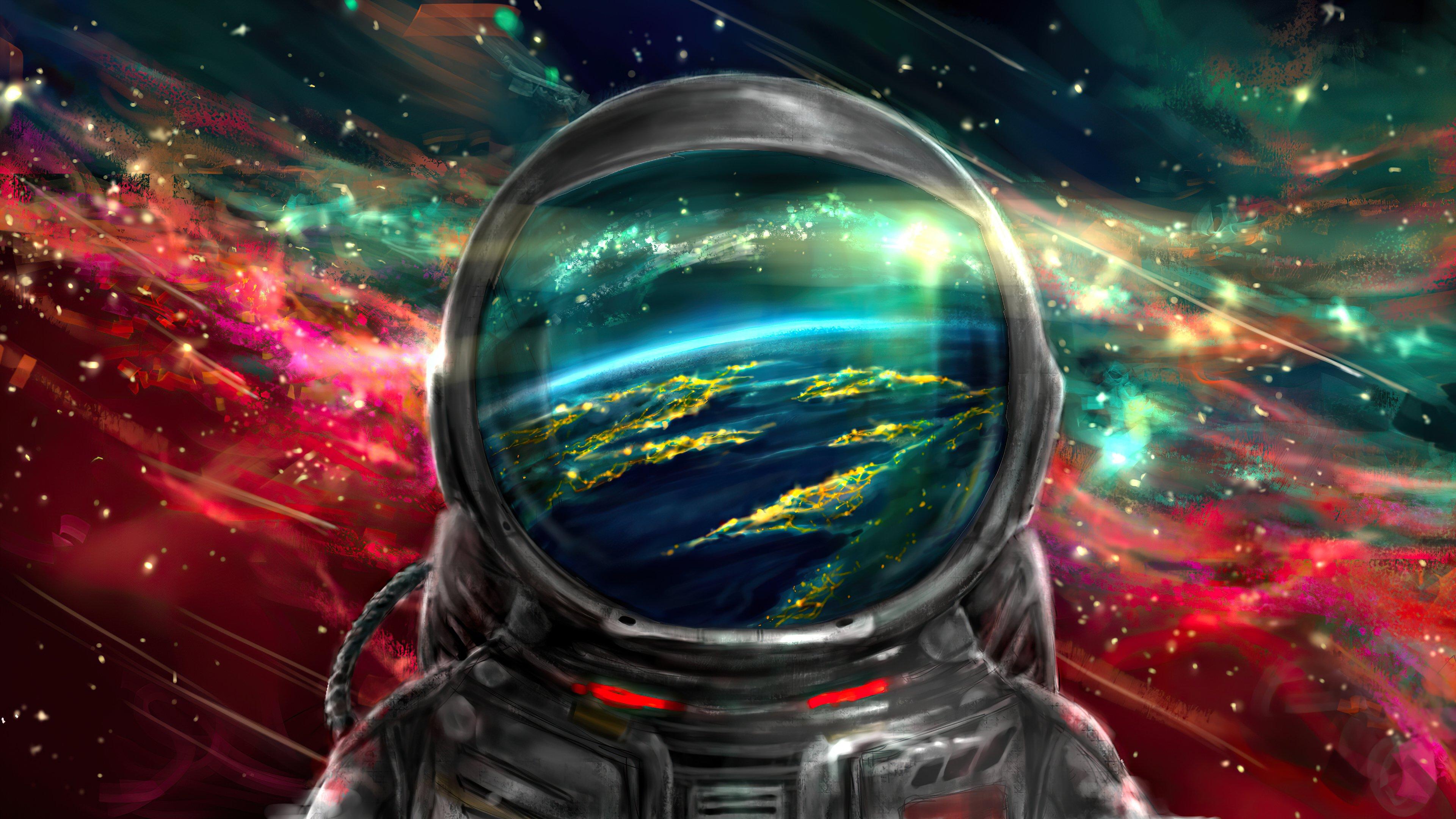 Fondos de pantalla Astronauta con universo de fondo