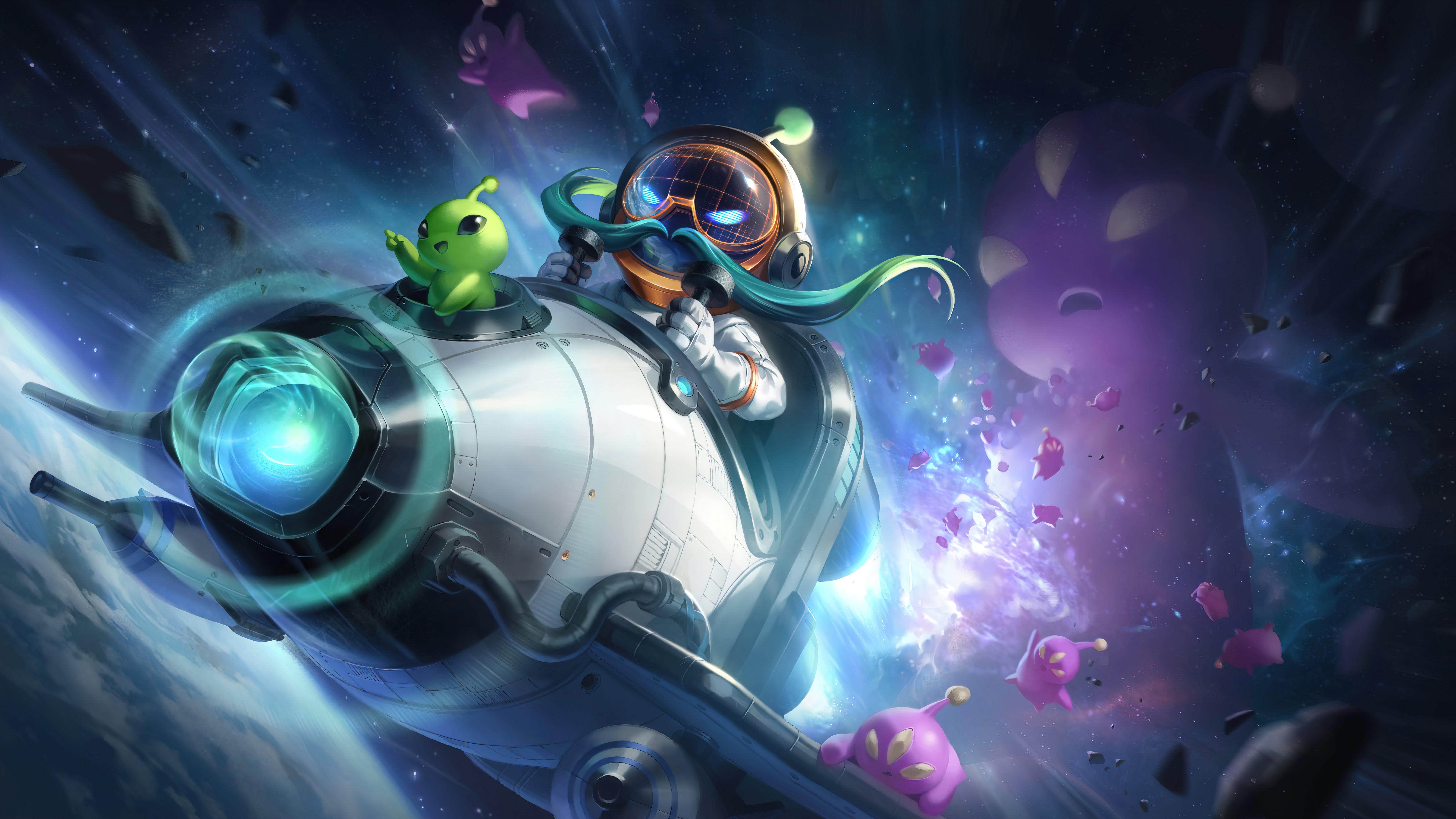 Fondos de pantalla Astronauta Corki League of Legends Splash Art