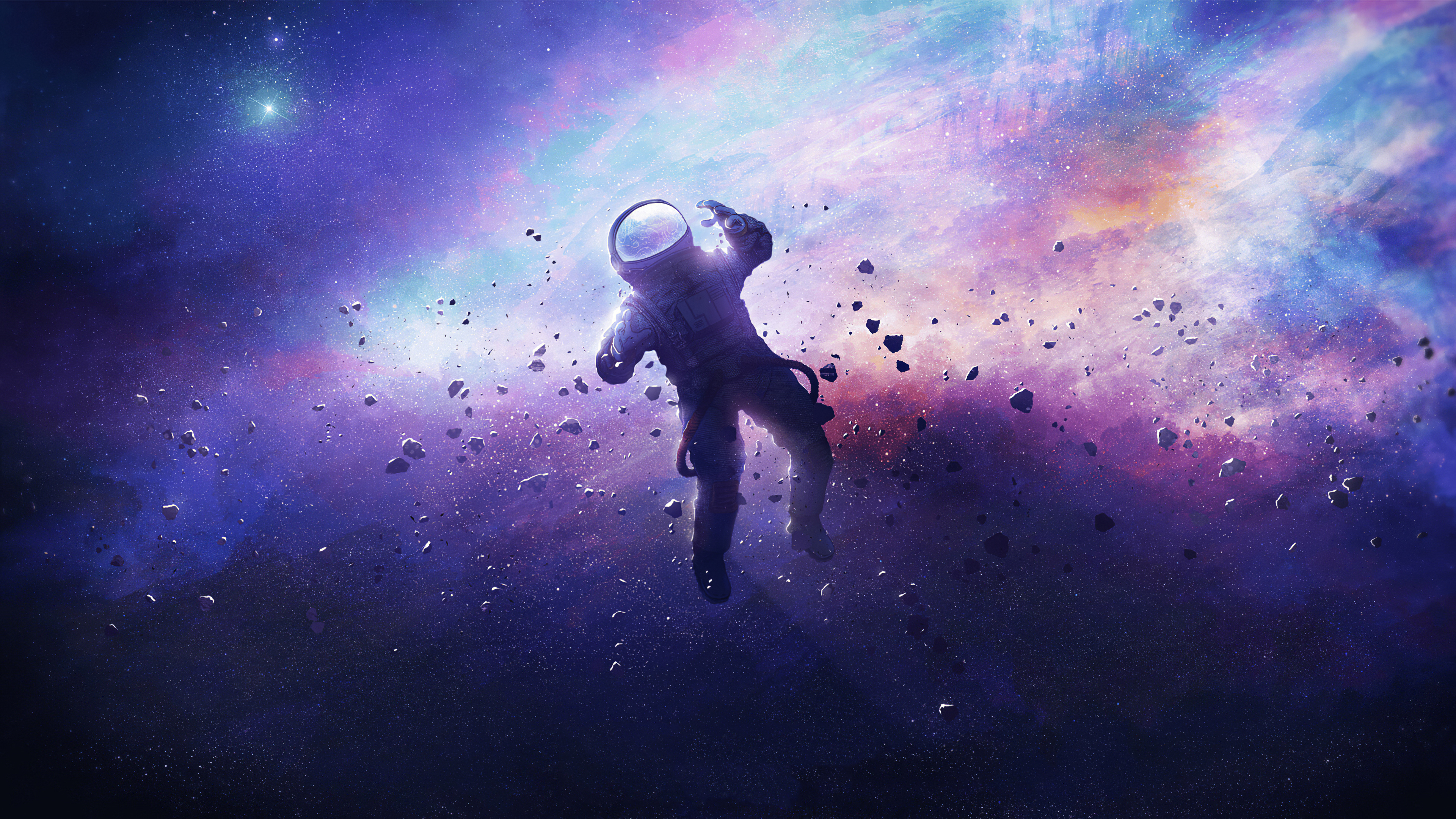 Wallpaper Astronaut lost in space