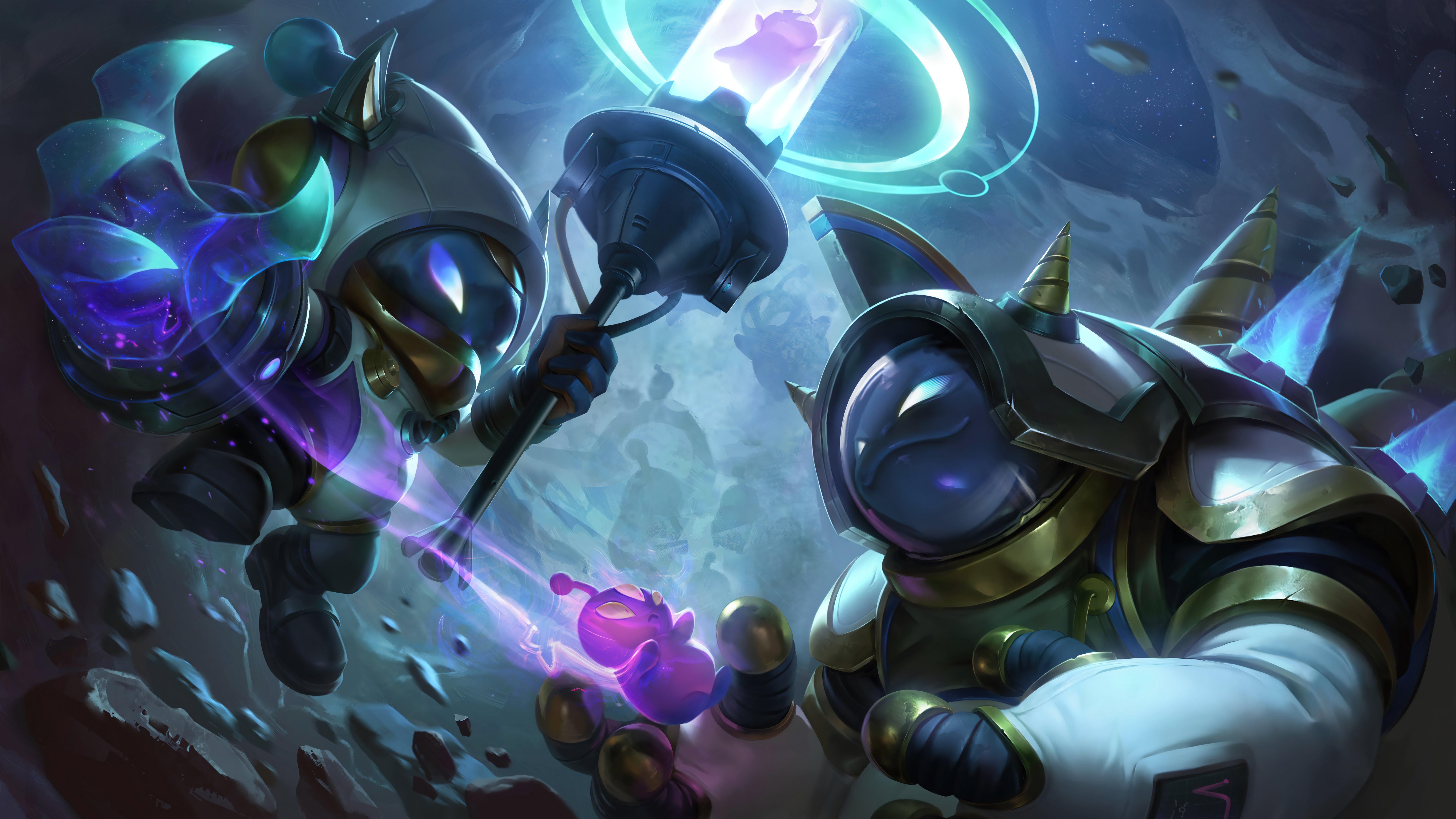 Fondos de pantalla Astronauta Veigar y Rammus League of Legends Splash Art