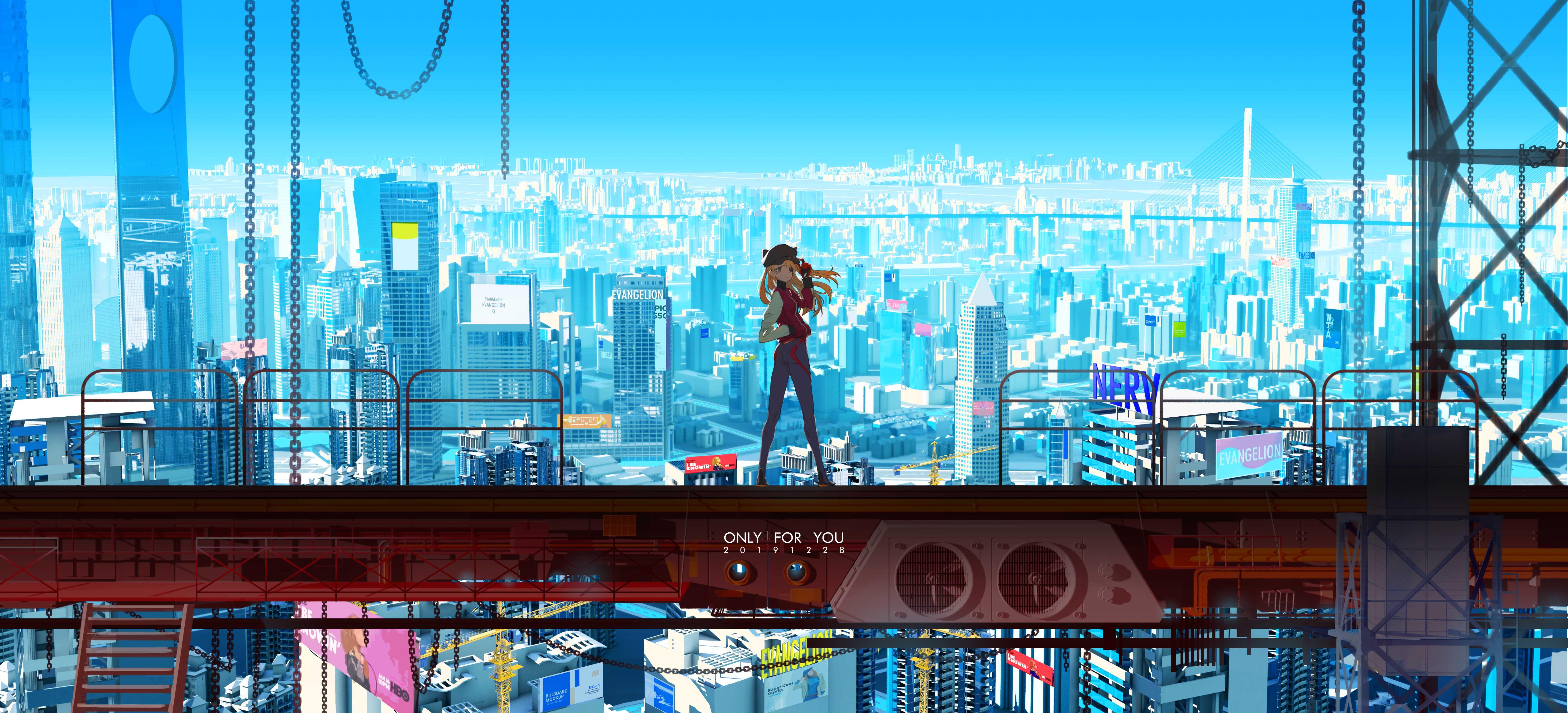 Anime Wallpaper Asuka from Neon Genesis Evangelion