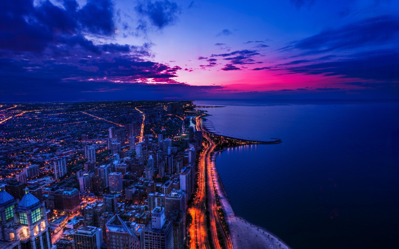Wallpaper Sunset in Chicago