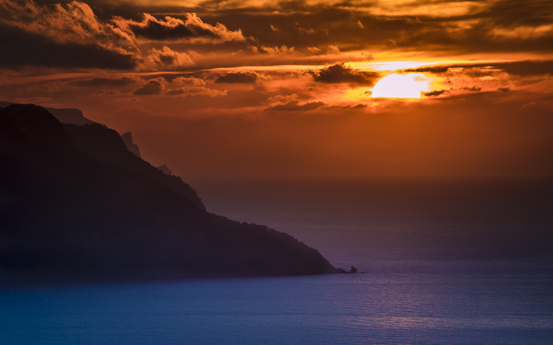 Wallpaper Sunset in the ocean