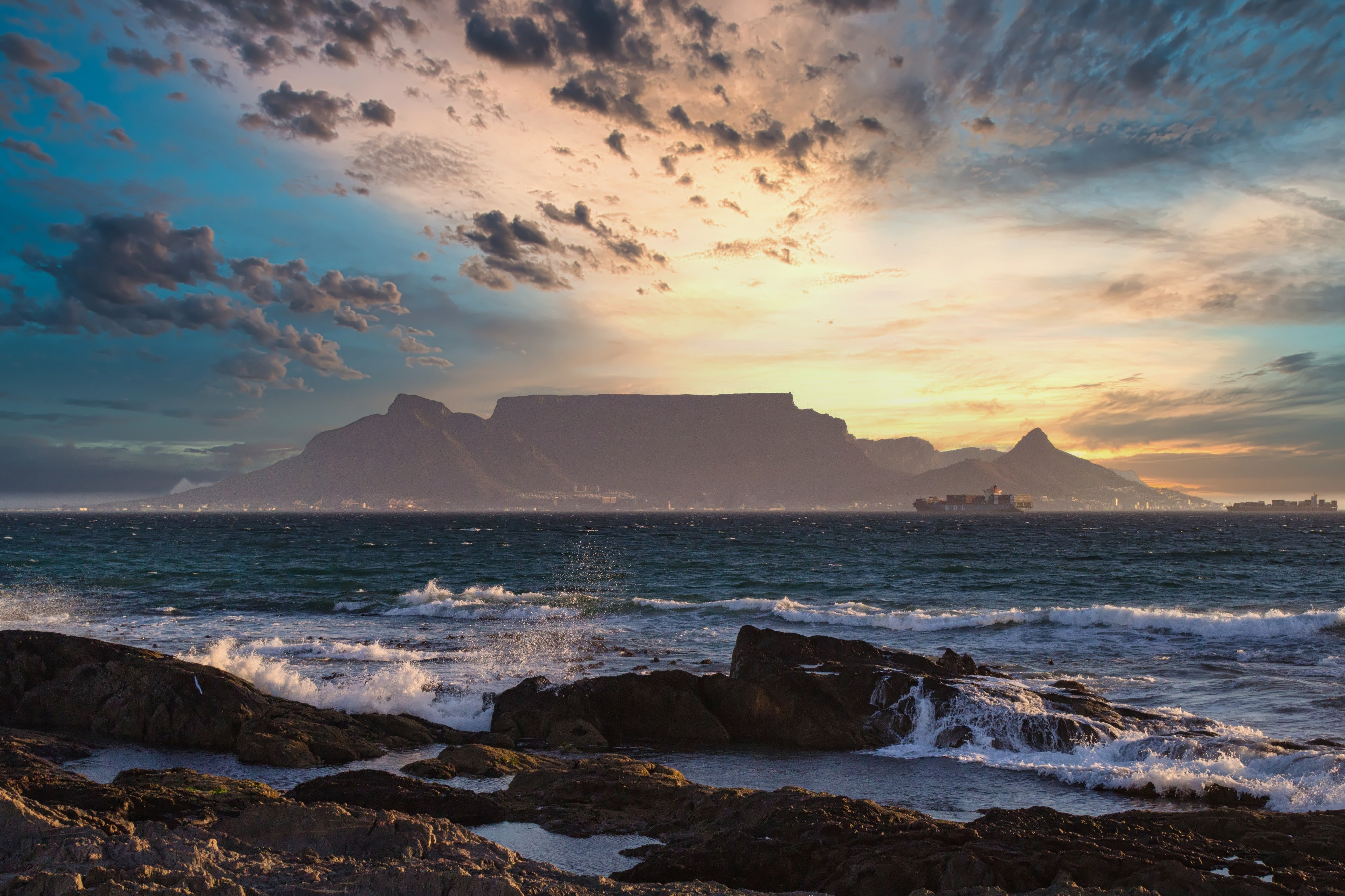 Wallpaper Sunset at the coast