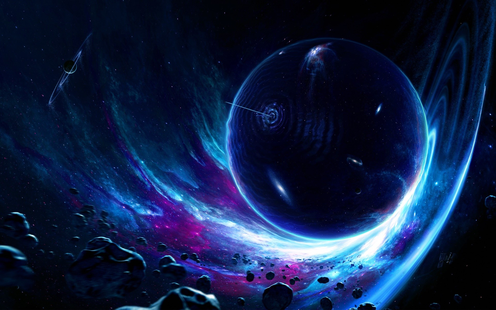 Fondos de pantalla Atravesando un planeta