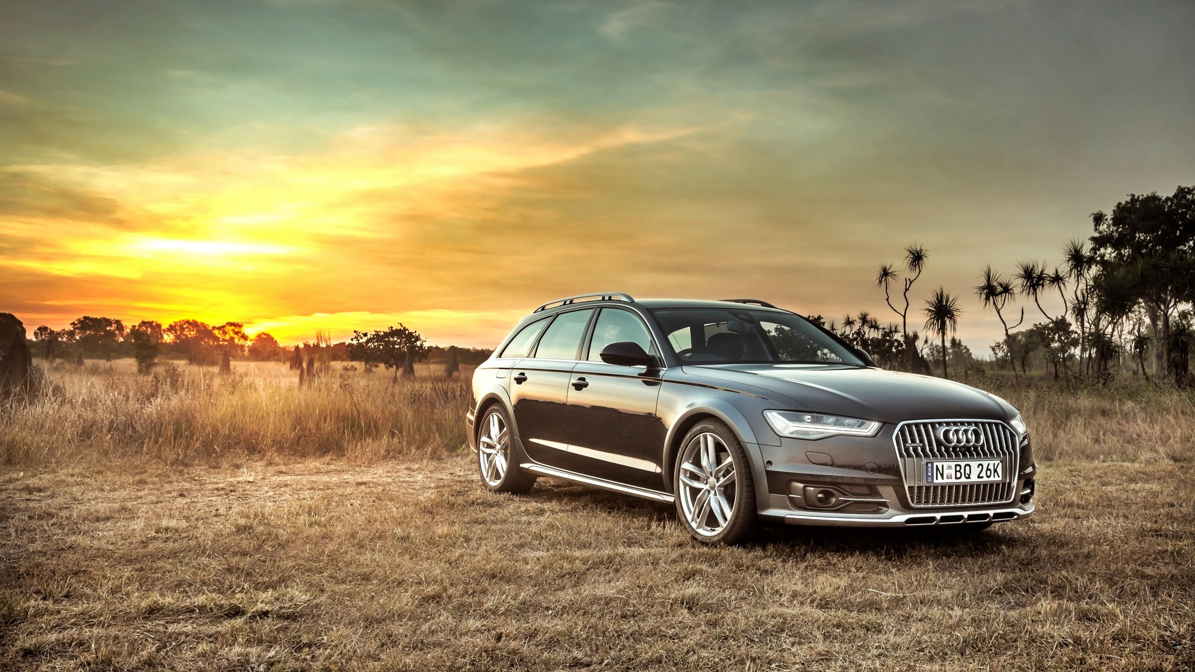 Wallpaper Audi A6 Allread at sunset