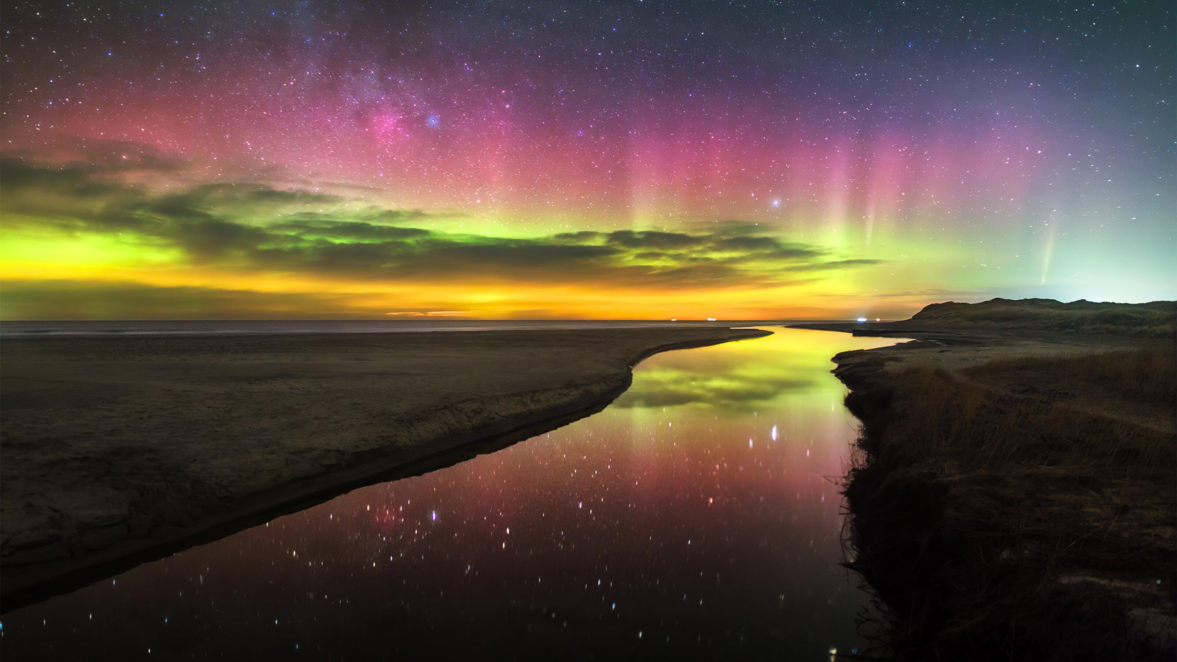 Fondos de pantalla Aurora polar de colores
